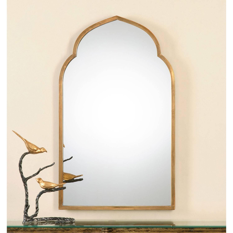 Kenitra Gold Arch Mirror Uttermost Wall Mirror Mirrors Home Decor throughout Gold Arch Mirrors (Image 12 of 25)