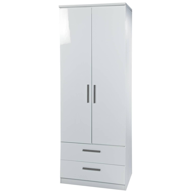 Kensington 2Ft6 2 Drawer Wardrobe throughout White Double Wardrobes With Drawers (Image 10 of 15)