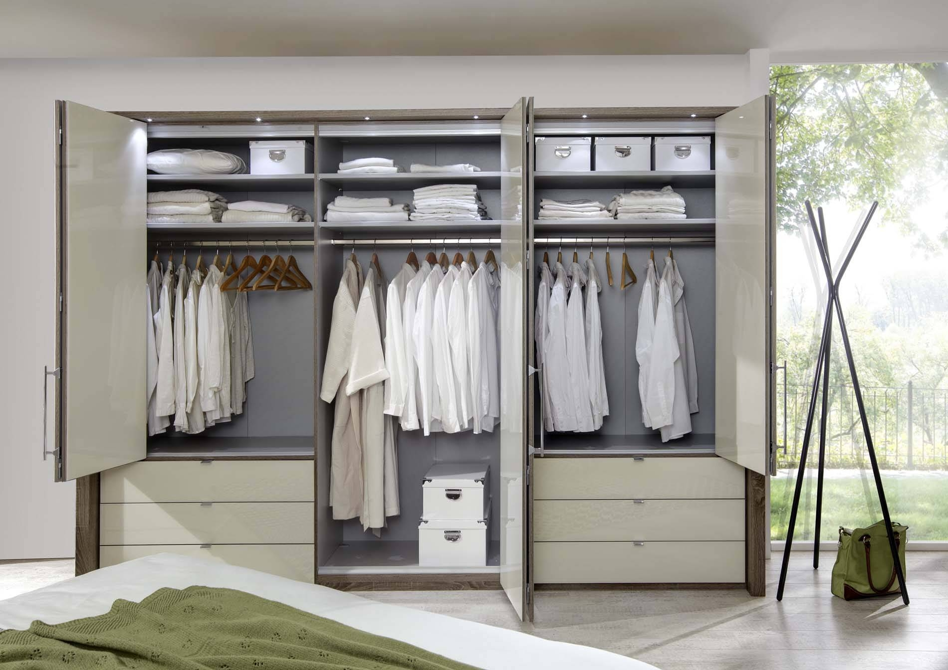 Kensington 6 Door 6 Drawer Wardrobe | Crendon Beds regarding 6 Door Wardrobes Bedroom Furniture (Image 11 of 15)