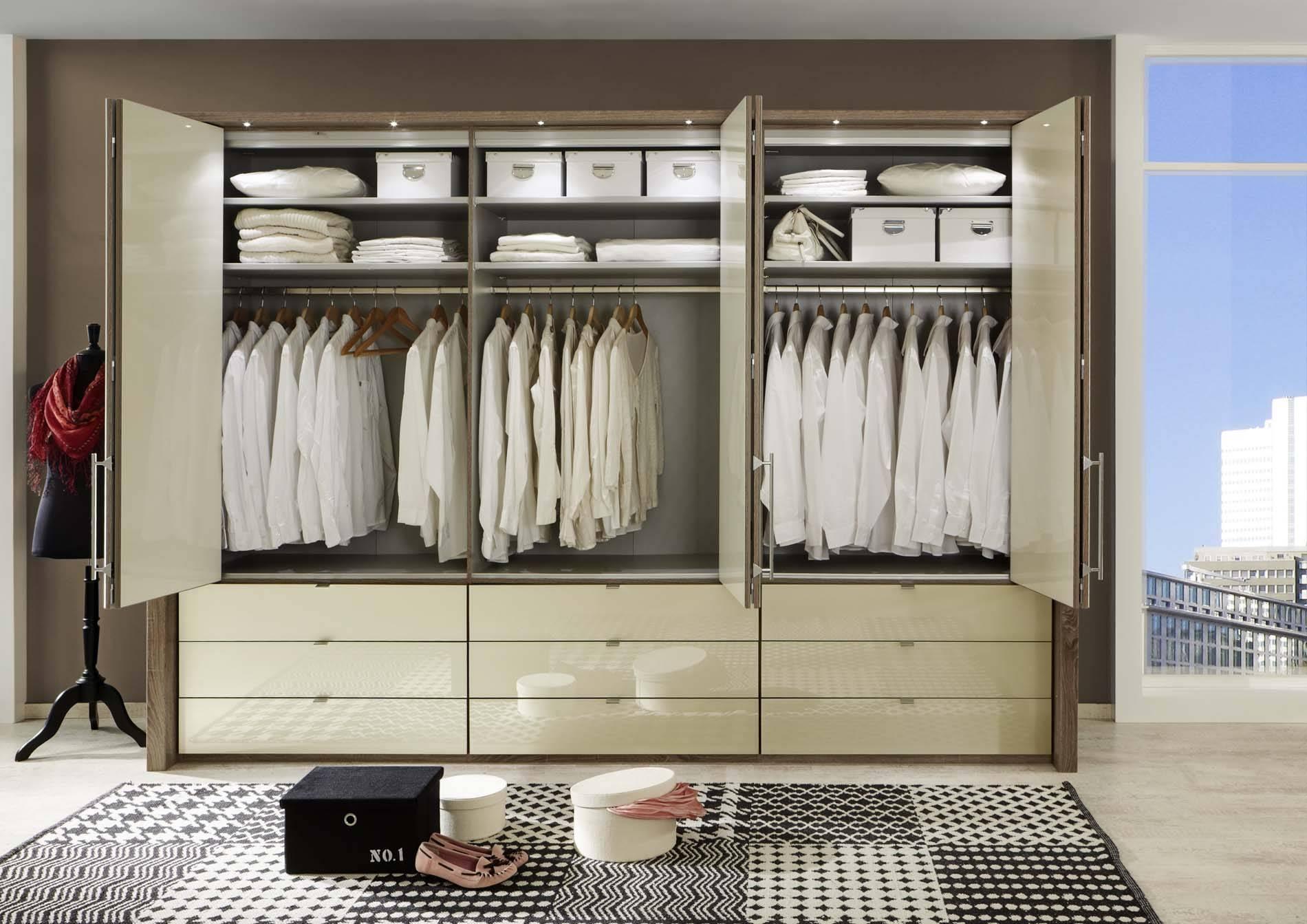 Kensington 6 Door 9 Drawer Wardrobe | Crendon Beds Inside 6 Door Wardrobes Bedroom Furniture (View 4 of 15)