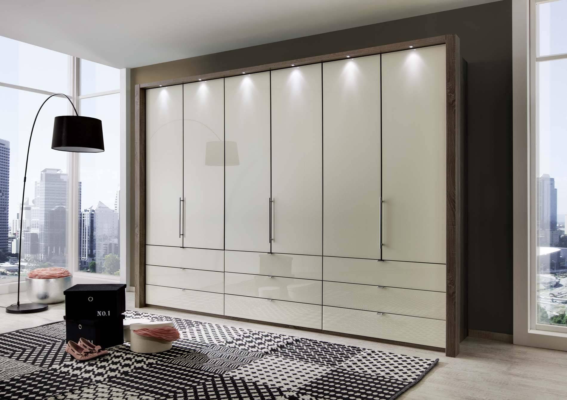 Kensington 6 Door 9 Drawer Wardrobe | Crendon Beds Inside 6 Door Wardrobes Bedroom Furniture (View 3 of 15)