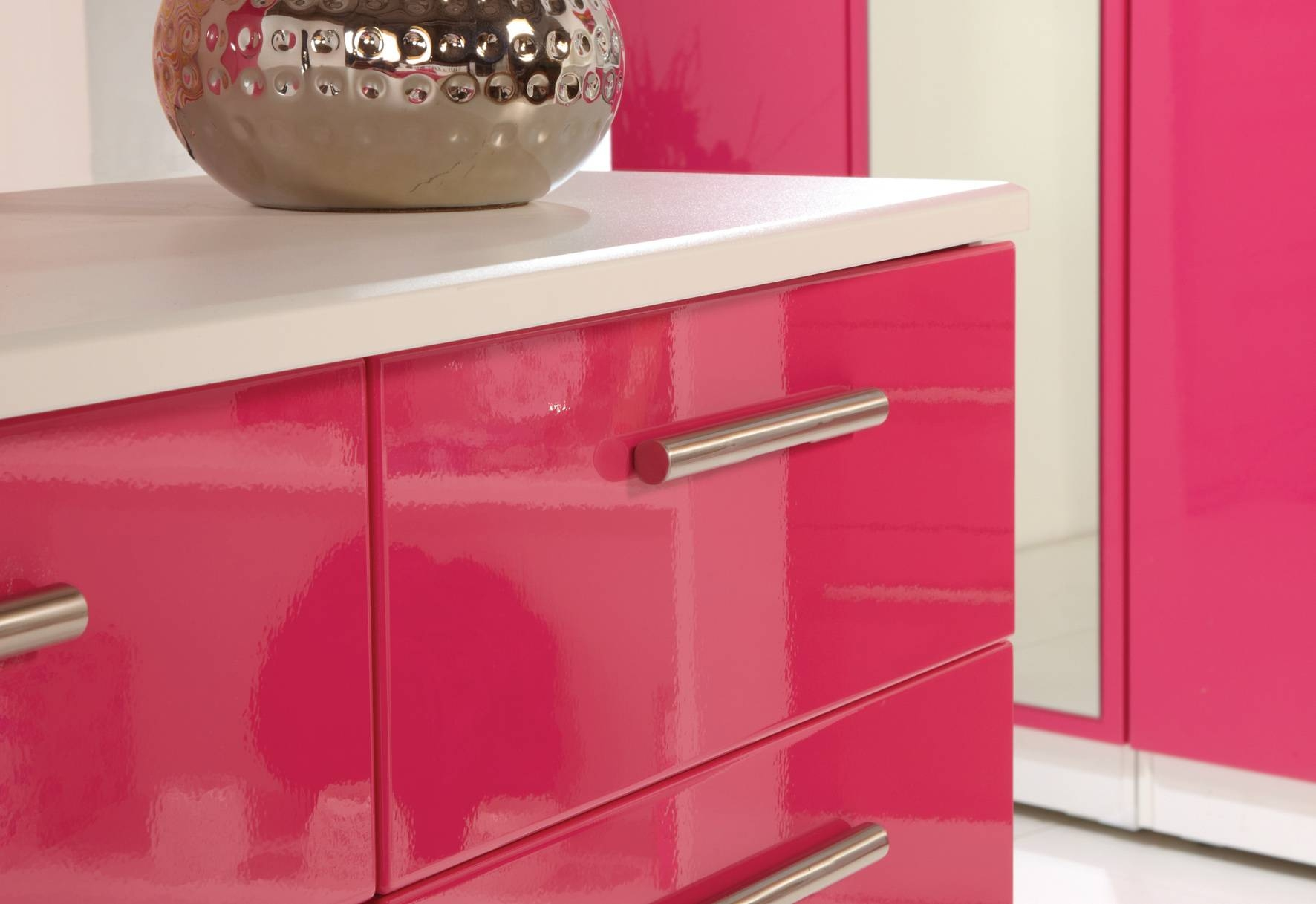 Kensington Bedroom | Lifestyle Furniture throughout Pink High Gloss Wardrobes (Image 10 of 15)