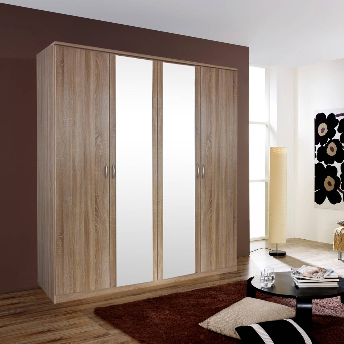 Kent 4 Door Mirror Wardrobe From House Of Reeves Intended For Kent Wardrobes (View 10 of 15)