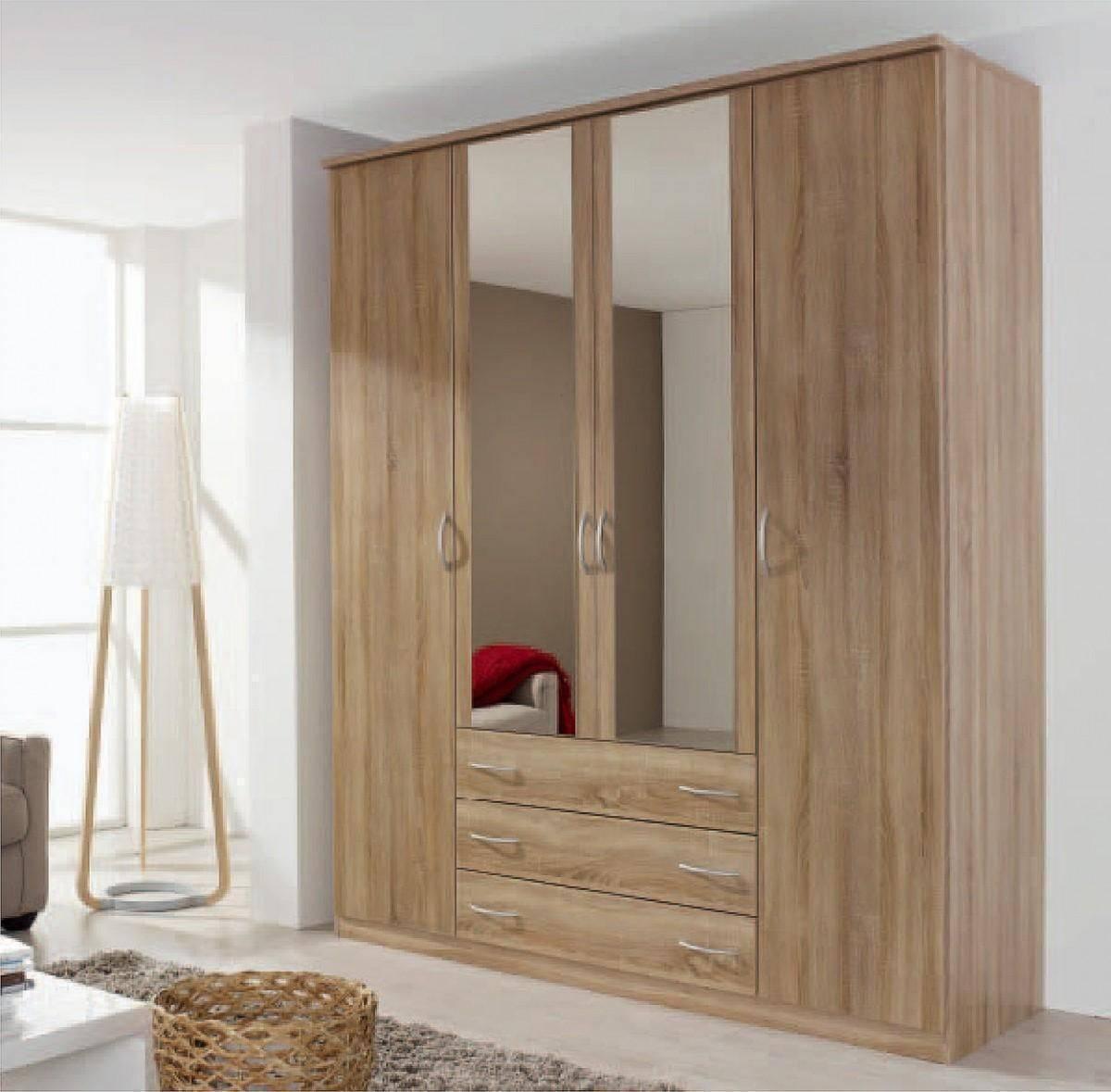Kent 5 Doors 1 Mirror Wardrobe – 58d9 | Shawn Furniture Inside Kent Wardrobes (View 9 of 15)