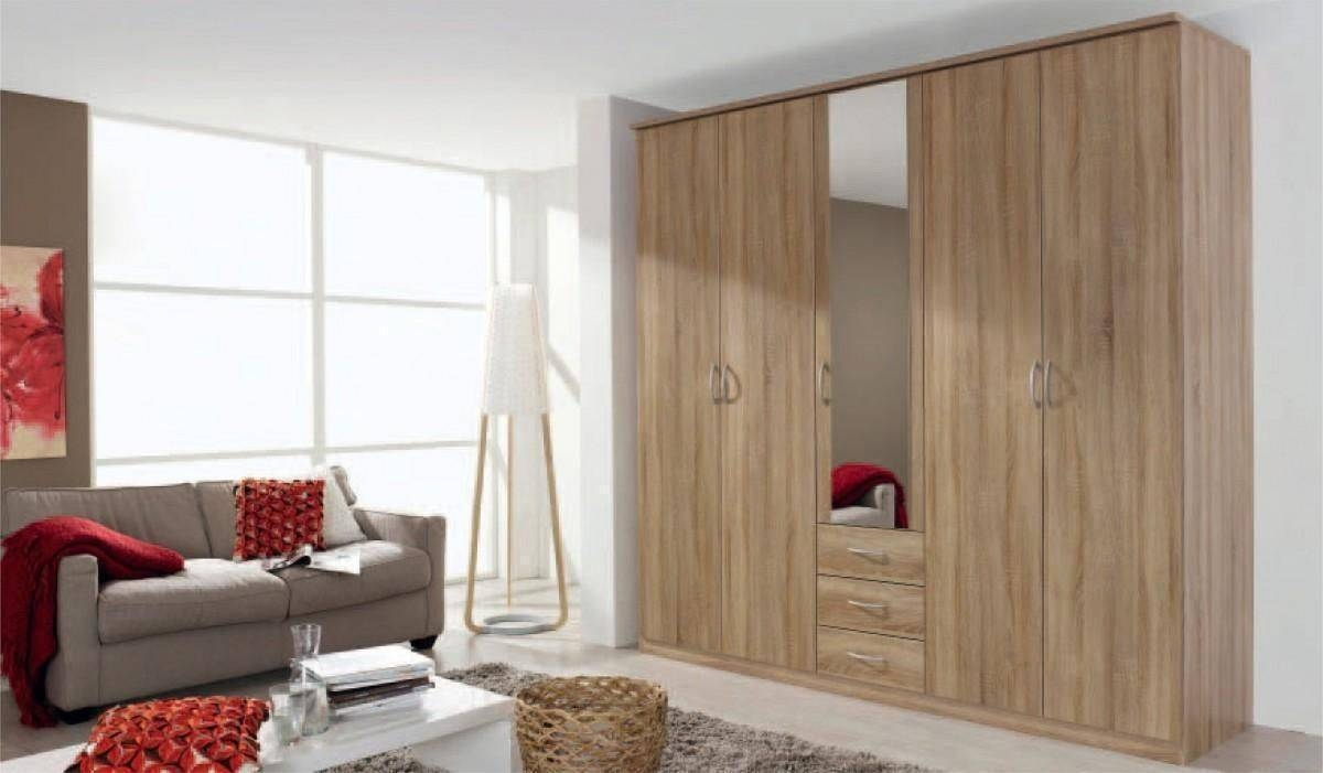 Kent 5 Doors 1 Mirror Wardrobe - 58D9 | Shawn Furniture throughout 5 Door Mirrored Wardrobes (Image 12 of 15)