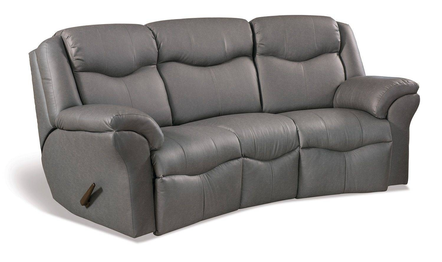 Kenwood Curved Reclining Sofa - Countryside Amish Furniture throughout Curved Recliner Sofa (Image 18 of 30)