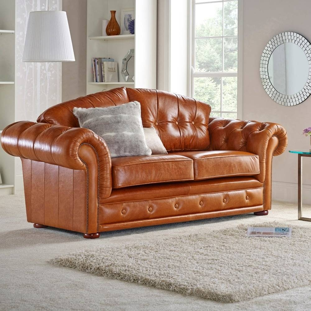 Keswick 3 Seater Sofa - From Sofassaxon Uk inside Three Seater Sofas (Image 21 of 30)