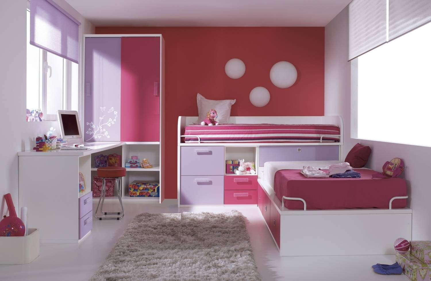 Kids Bedroom Sets | Kids Beds | Wardrobes | Desks | Made In Any Colour throughout Childrens Bed With Wardrobes Underneath (Image 9 of 15)