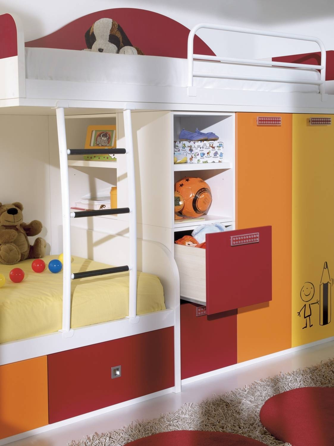 Kids Bedroom Sets | Kids Beds | Wardrobes | Desks | Made In Any Colour within Childrens Bed With Wardrobes Underneath (Image 10 of 15)