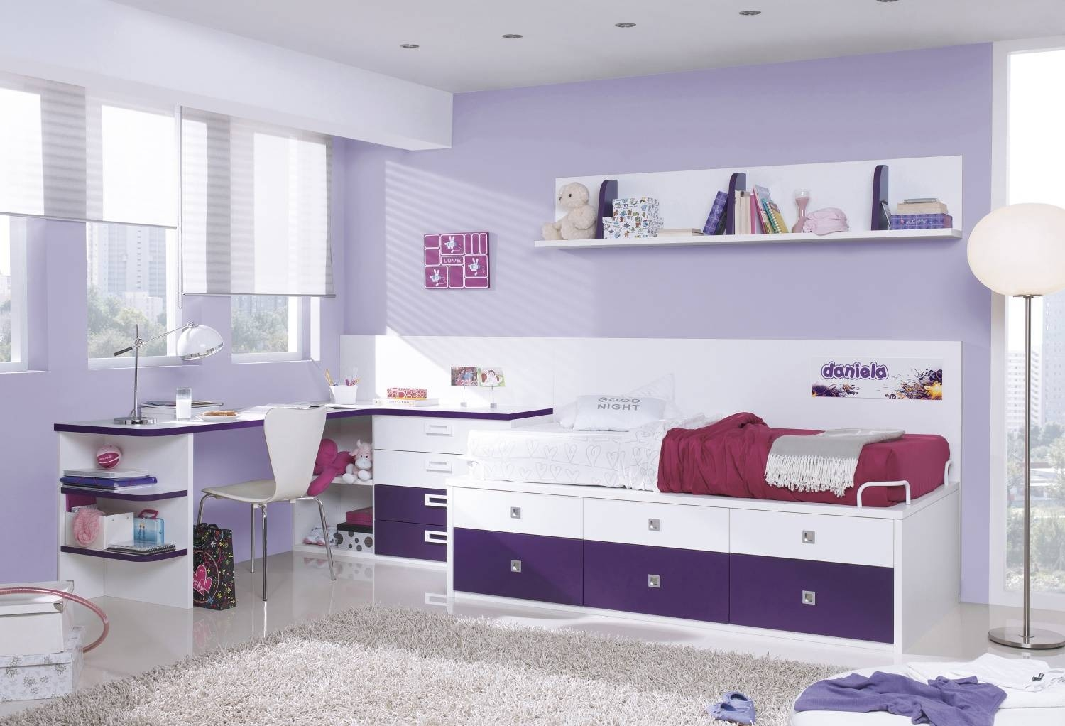Kids Bunk Beds With Desk. Abridged Low Twin Bunk Bed (View 11 of 15)