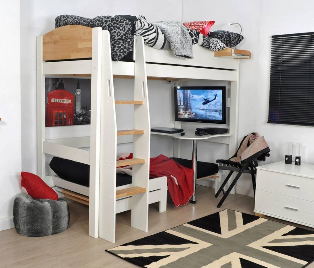Kids High Sleeper With Futon | Roselawnlutheran intended for High Sleeper With Desk and Sofa (Image 20 of 30)