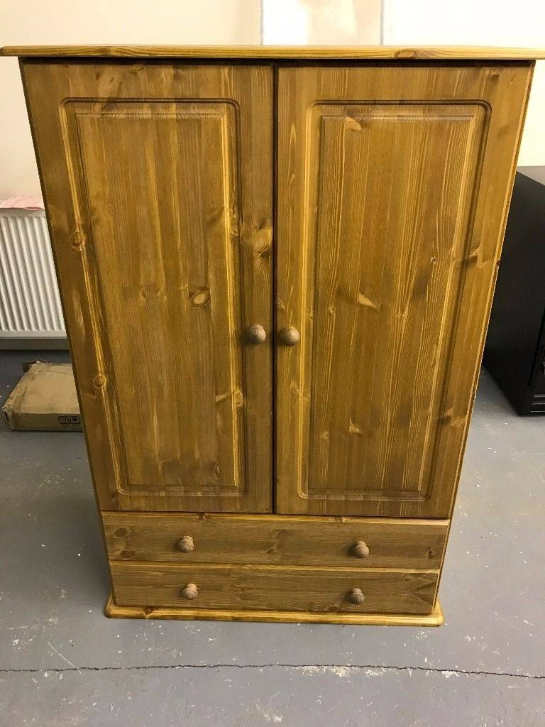 Kids Pine Wardrobe With 2 Doors And 2 Drawers - New | In Lenzie throughout Kids Pine Wardrobes (Image 10 of 15)