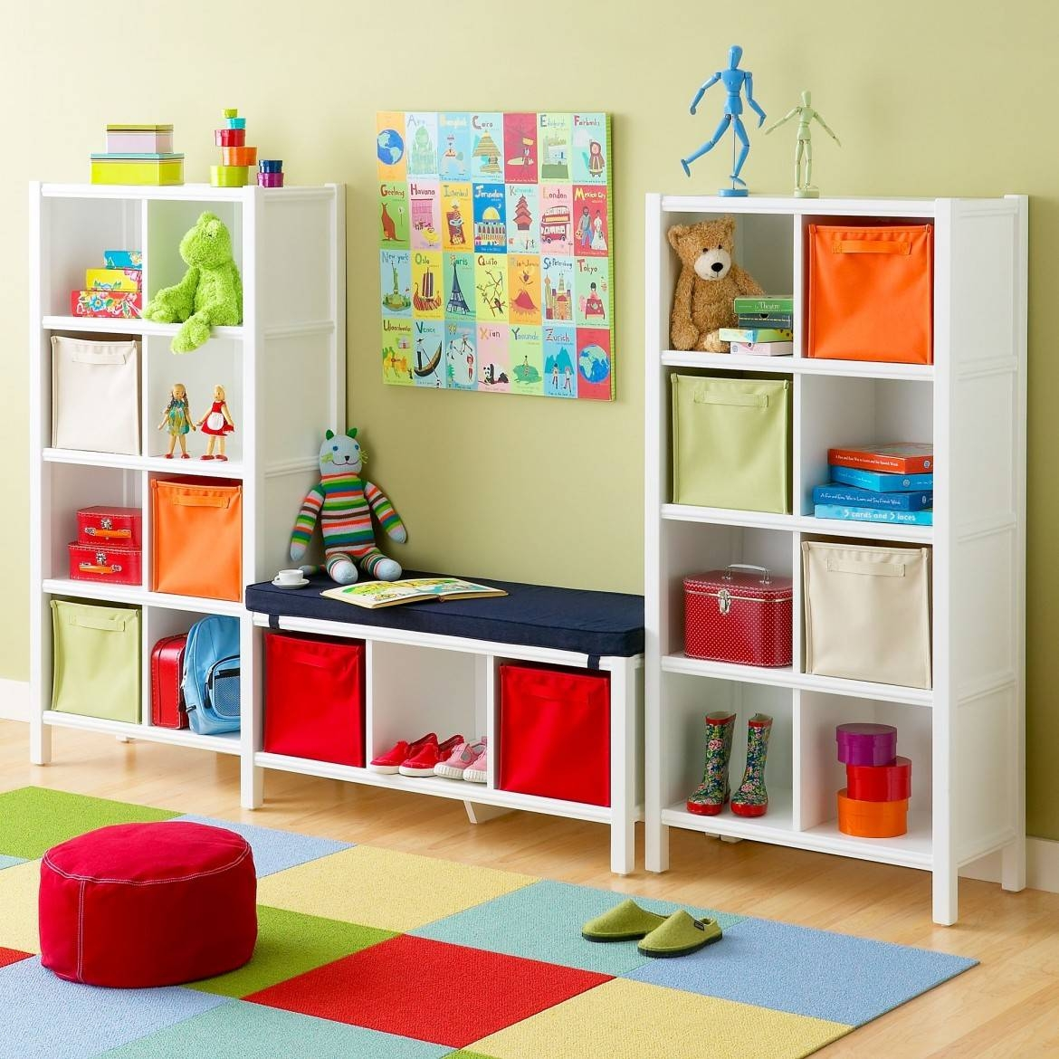 Kids Room : Foam Mattresses Children's Rugs & Play Mats Chairs with Childrens Wardrobes With Drawers And Shelves (Image 17 of 30)