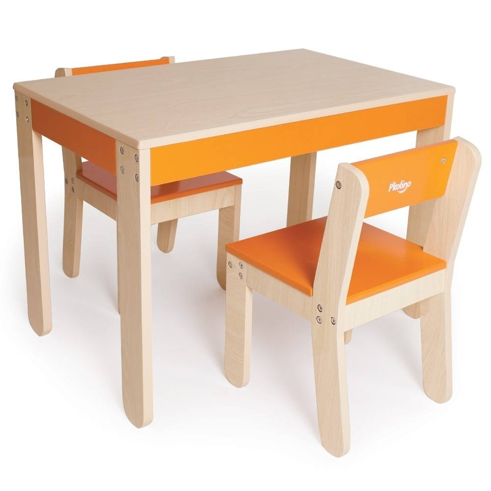 Kids Table And Chairs - Orange inside Kids Coffee Tables (Image 17 of 30)