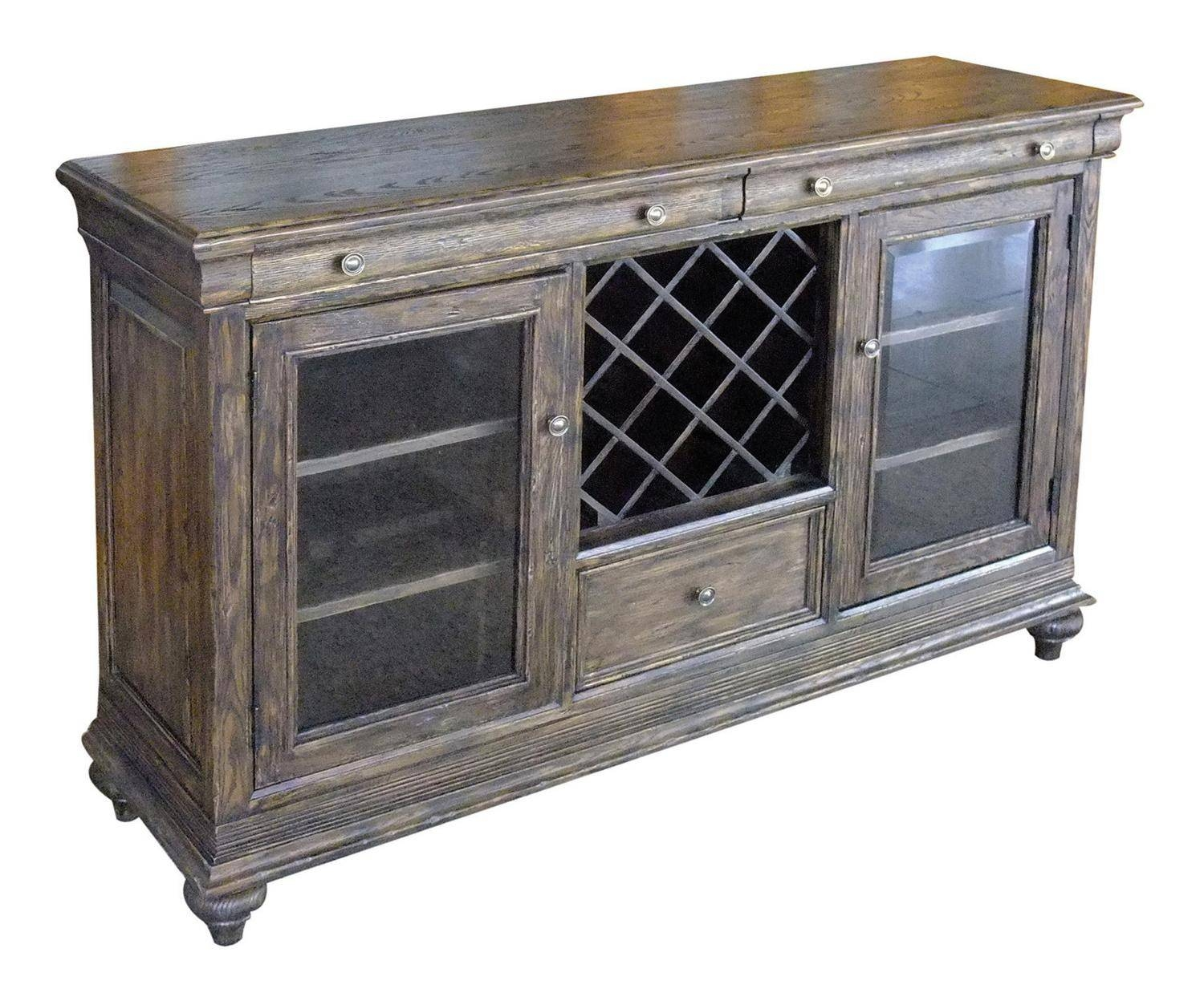 Kincaid Artisan's Shoppe Solid Wood Cabernet Sideboard In Black with regard to Sideboards With Wine Racks (Image 7 of 30)