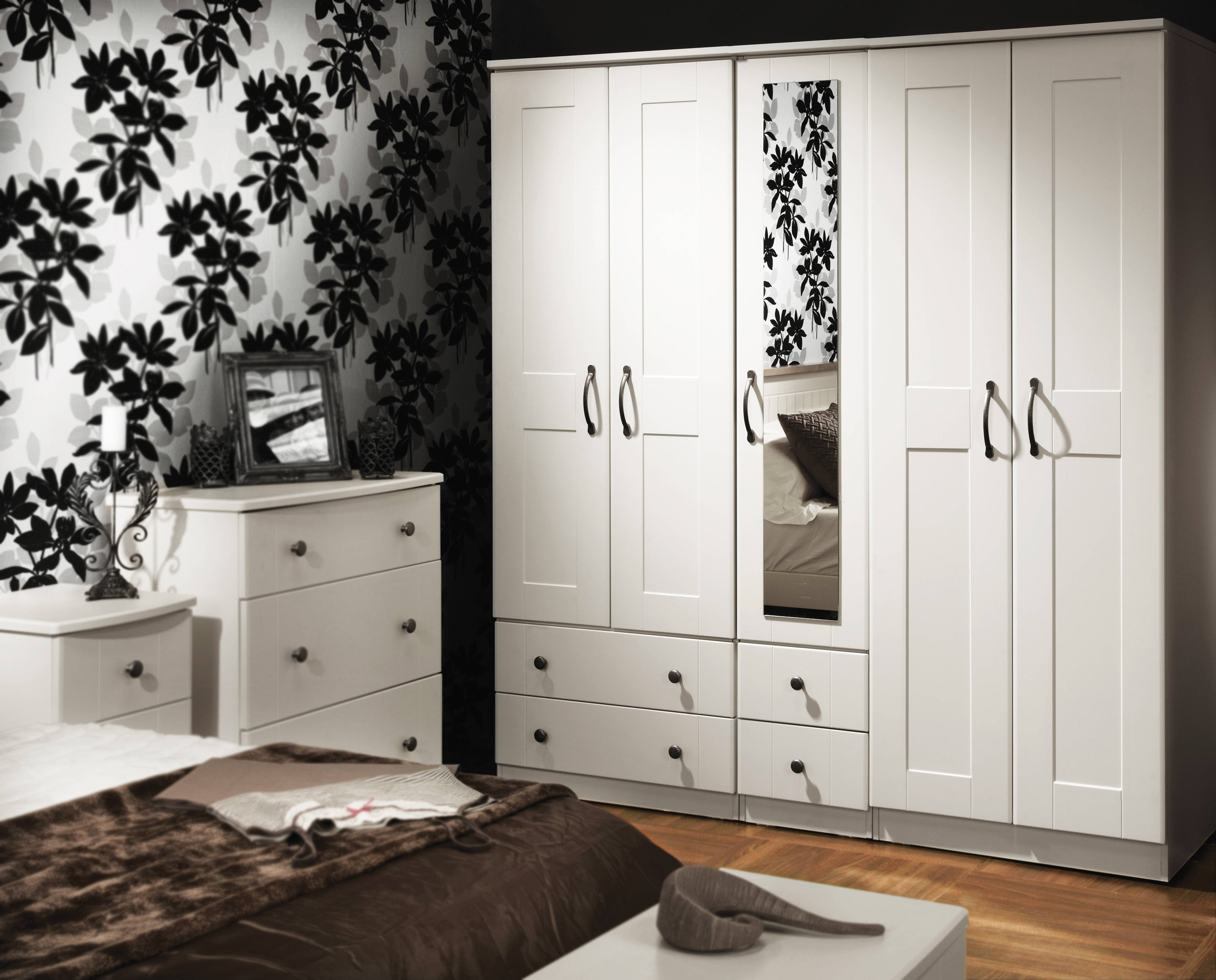 Kingsley Bedroom | Lifestyle Furniture inside Black And White Wardrobes Set (Image 11 of 15)