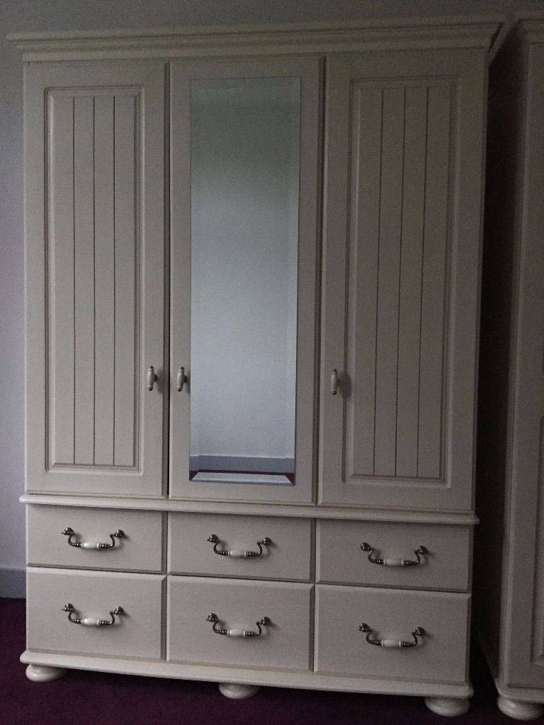 Kingstown Signature Washed Cream Bedroom Furniture 2 X Wardrobes,5 For Signature Wardrobes (View 8 of 15)