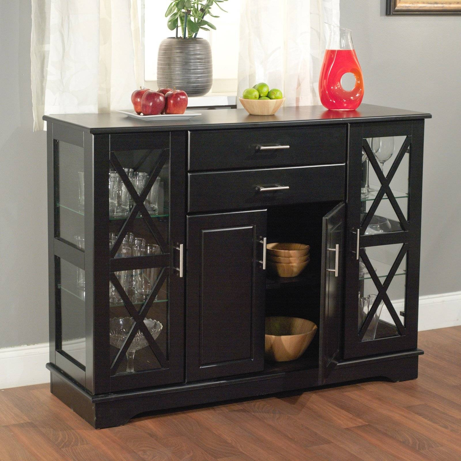 Kitchen Buffets And Sideboards - Kutsko Kitchen with Glass Sideboards (Image 15 of 30)