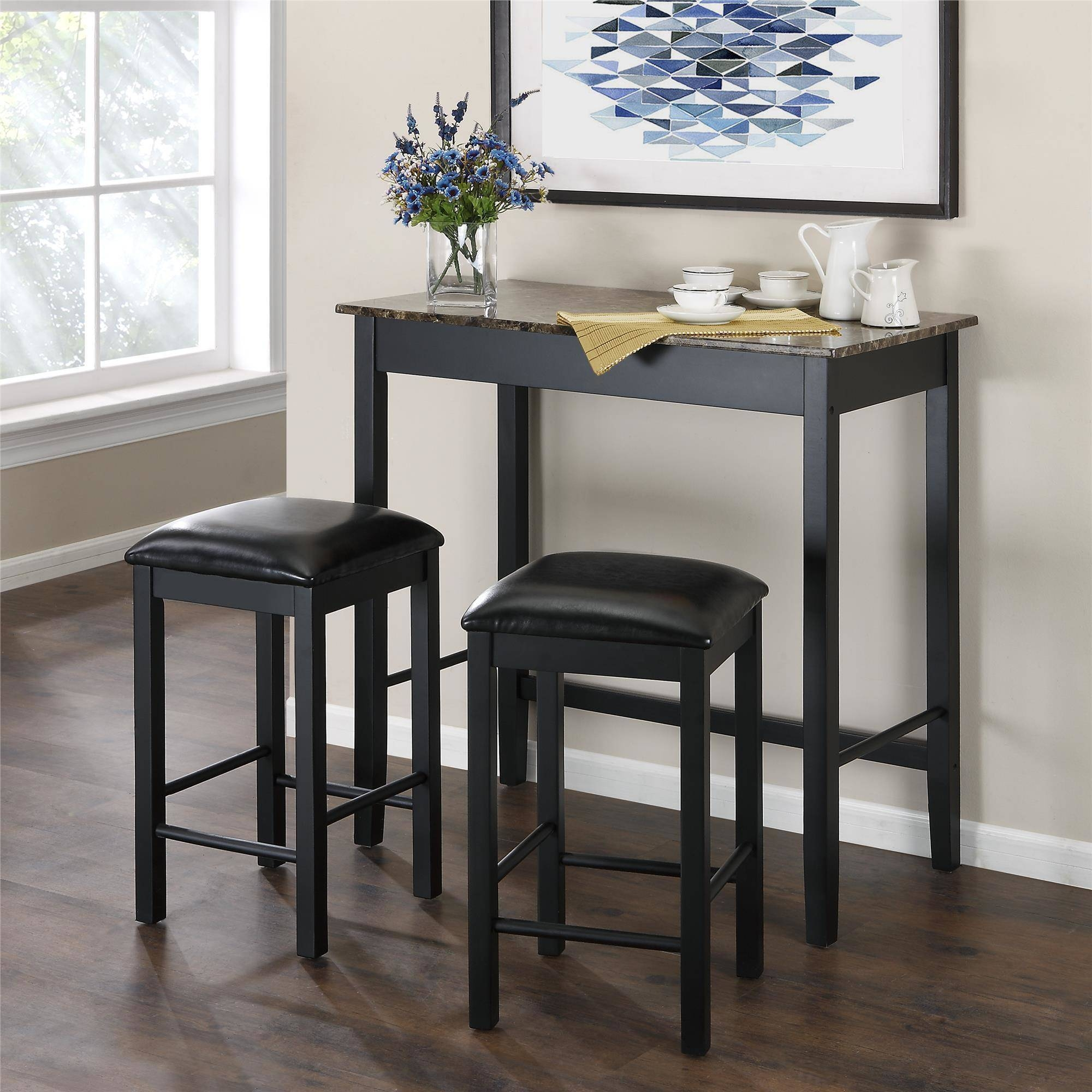Kitchen & Dining Furniture - Walmart within Sofa Table With Chairs (Image 19 of 30)
