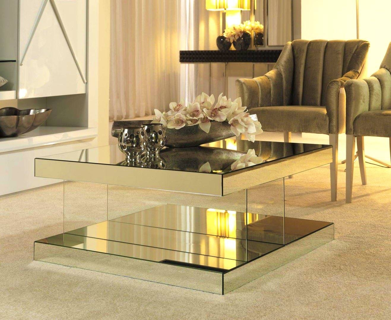 Kitchen : Fascinating Coffee Table Inexpensive Designer Mirrored within Round Mirrored Coffee Tables (Image 18 of 30)
