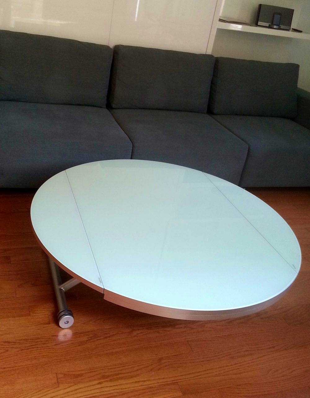 Kitchen : Licious Carambola Low Coffee Table Morelato Design Regarding Large Round Low Coffee Tables (View 8 of 30)