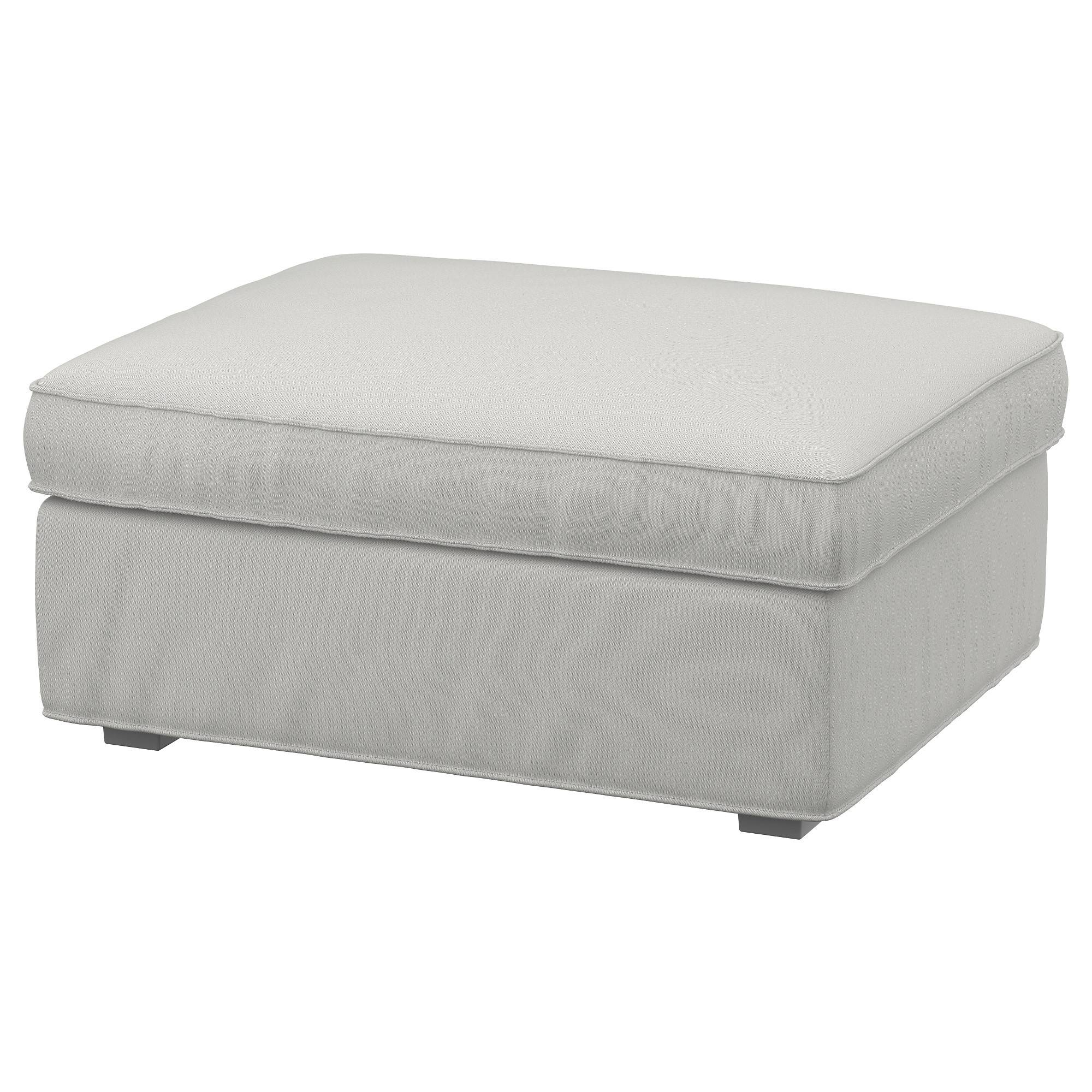 Kivik Footstool With Storage Ramna Light Grey - Ikea regarding Footstools And Pouffes (Image 19 of 30)