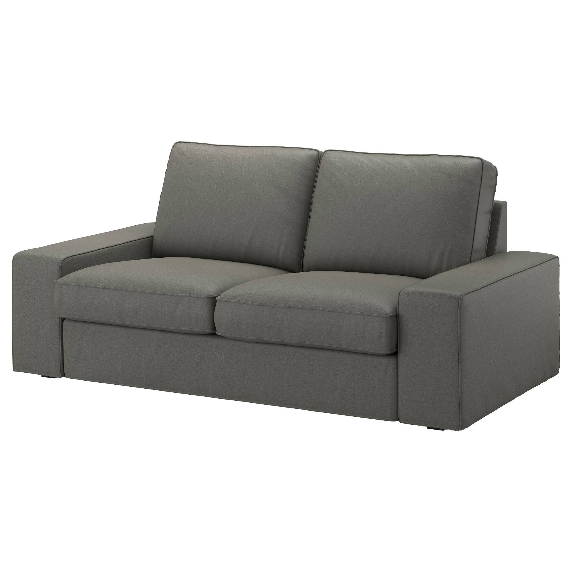 Kivik Loveseat - Borred Gray-Green - Ikea regarding Ikea Single Sofa Beds (Image 17 of 30)