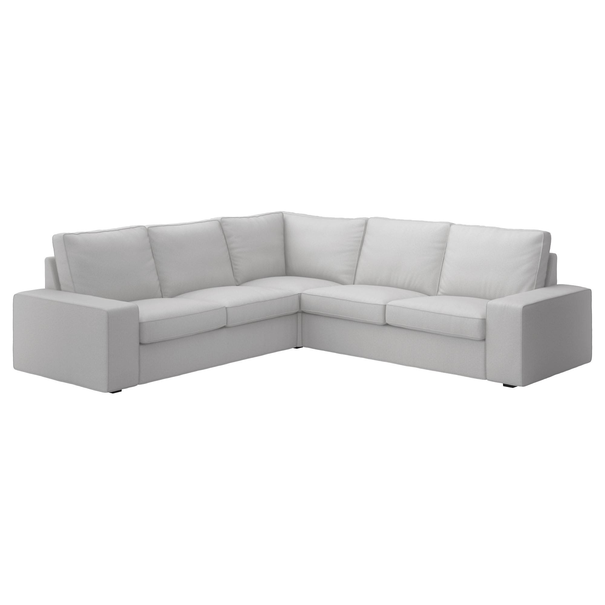 Kivik Sectional, 4-Seat Corner - Orrsta Light Gray - Ikea throughout 2X2 Corner Sofas (Image 19 of 30)
