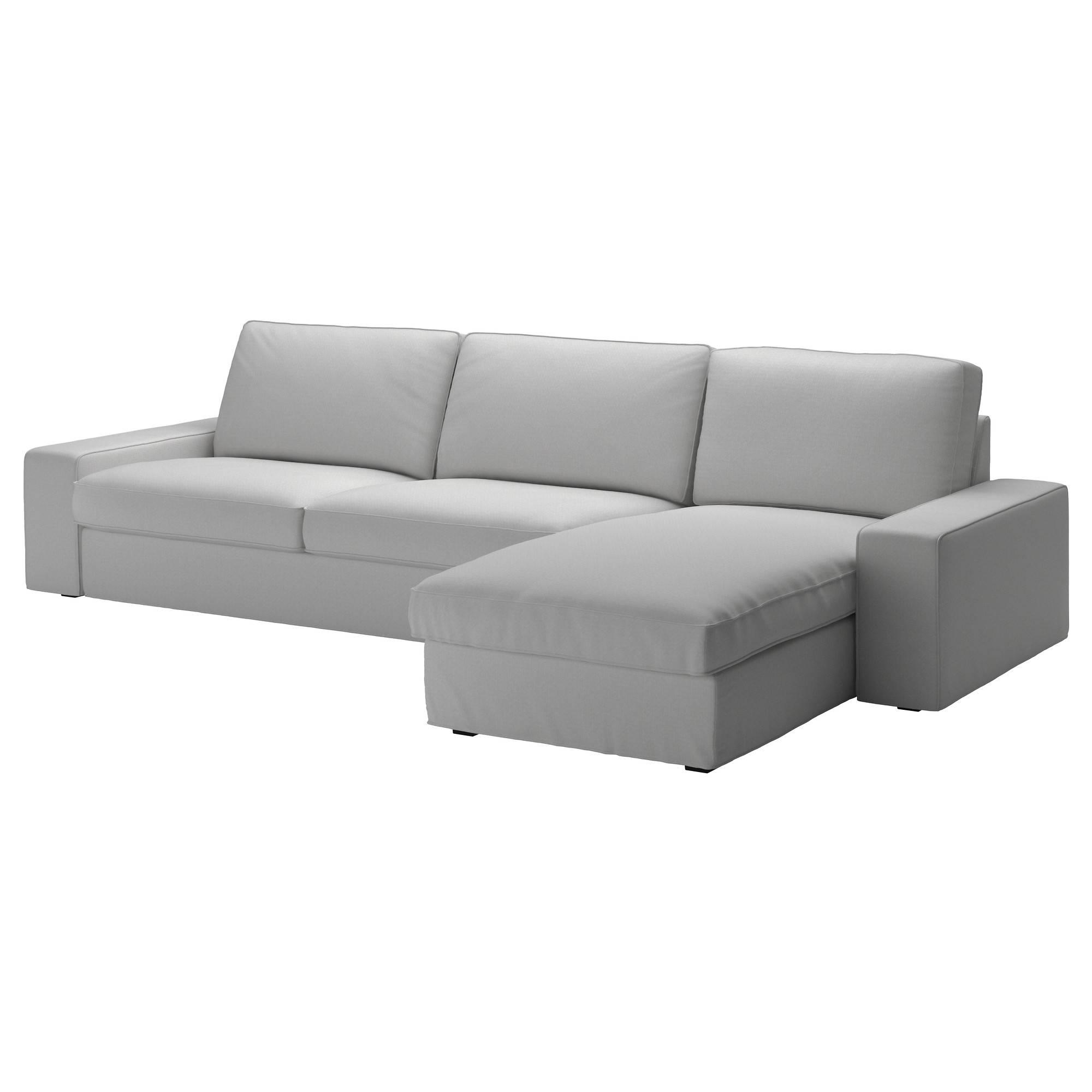Kivik Three-Seat Sofa And Chaise Longue - Orrsta Light Grey - Ikea regarding Small Sofas Ikea (Image 14 of 30)
