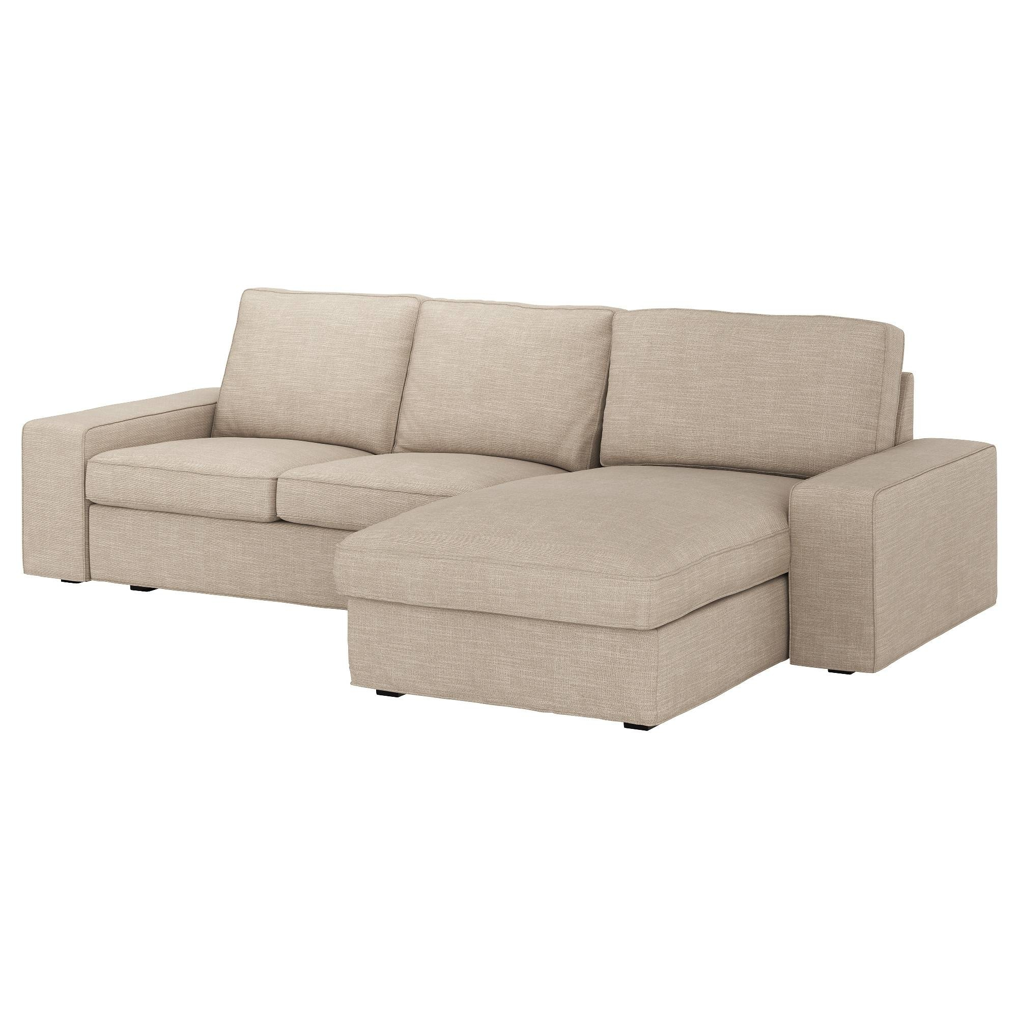 Kivik Two-Seat Sofa And Chaise Longue Hillared Beige - Ikea within Ikea Chaise Lounge Sofa (Image 21 of 30)