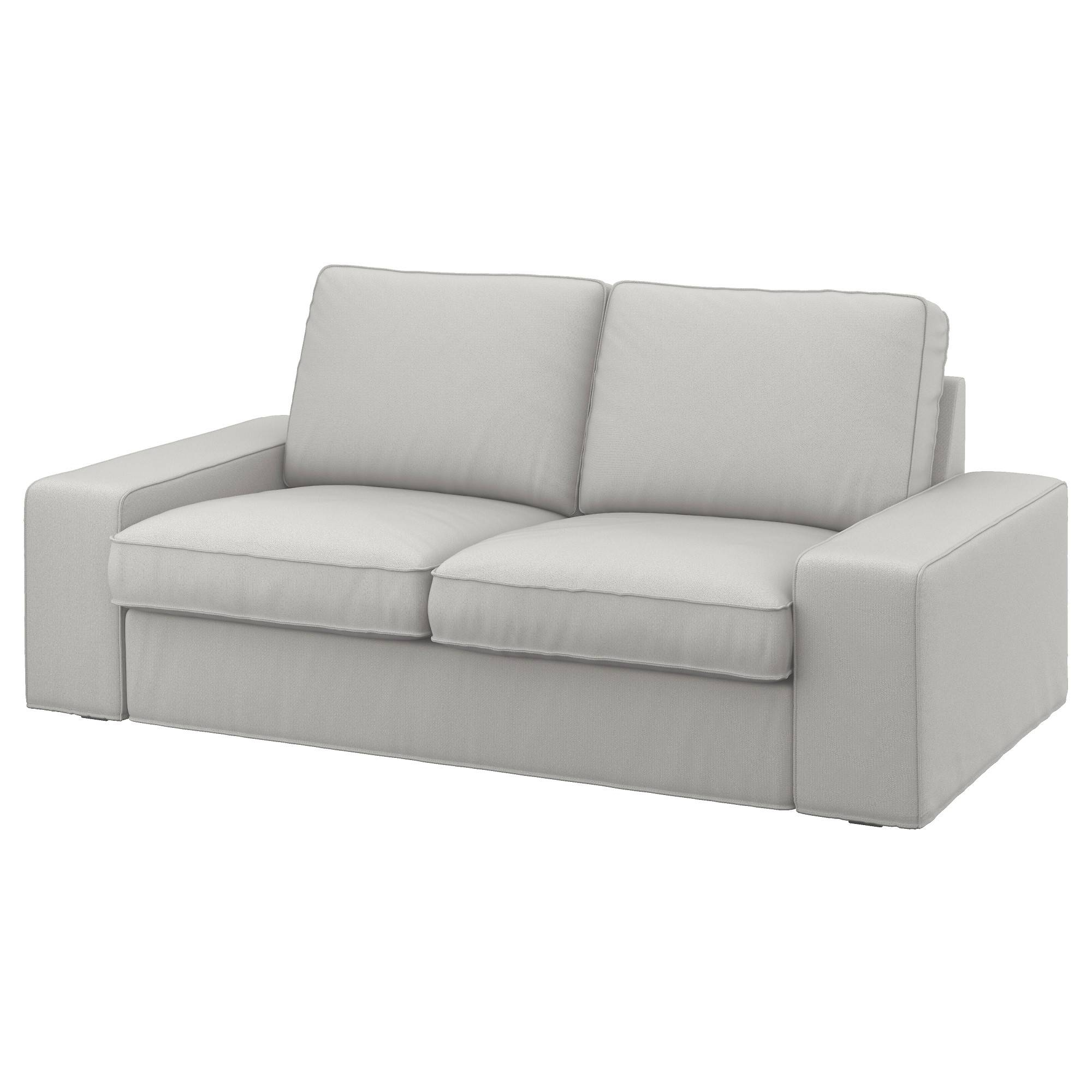 Kivik Two-Seat Sofa Ramna Light Grey - Ikea intended for Ikea Two Seater Sofas (Image 14 of 30)
