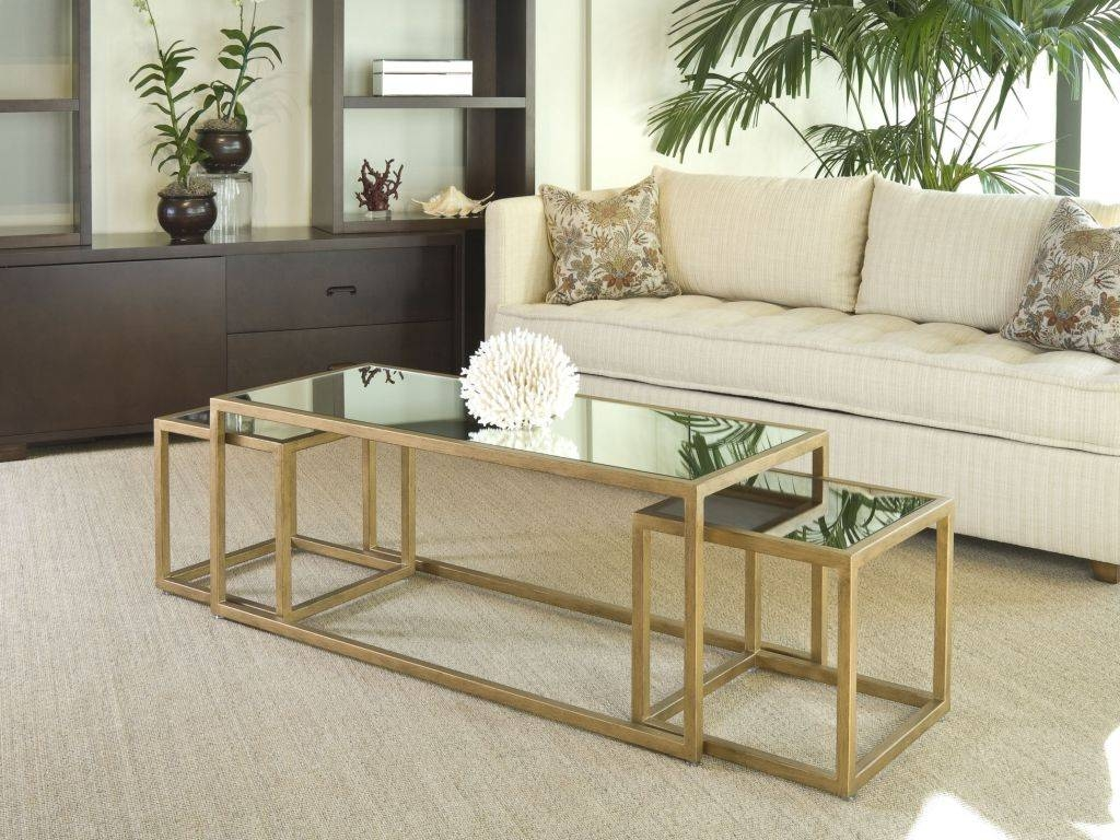 Kiwanis Walnut Finish Modern Triangular Nesting Coffee Tables For Stackable Coffee Tables (View 15 of 30)