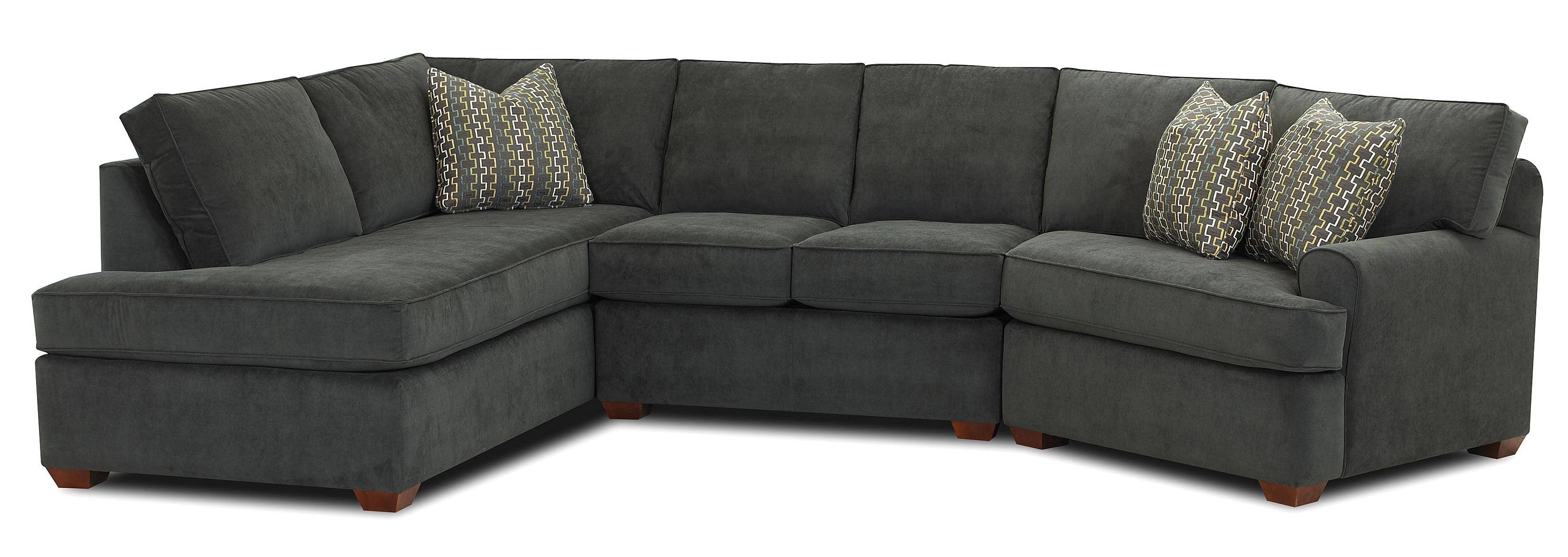 Klaussner Hybrid Sectional Sofa With Left-Facing Sofa Chaise inside Angled Sofa Sectional (Image 19 of 30)