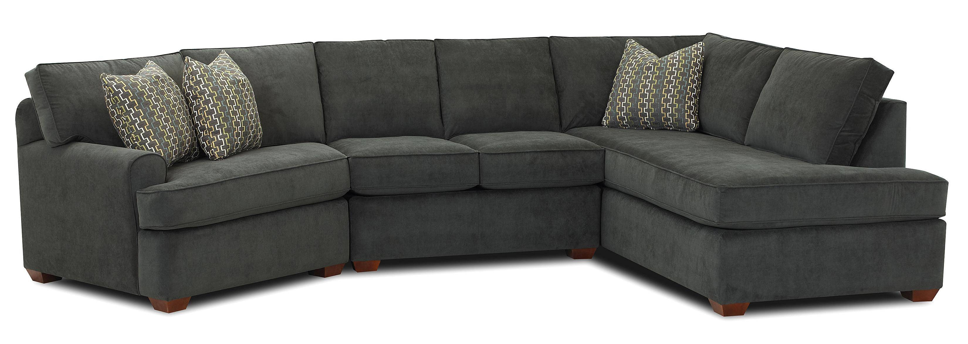 Klaussner Hybrid Sectional Sofa With Right-Facing Sofa Chaise regarding Quality Sectional Sofa (Image 7 of 30)