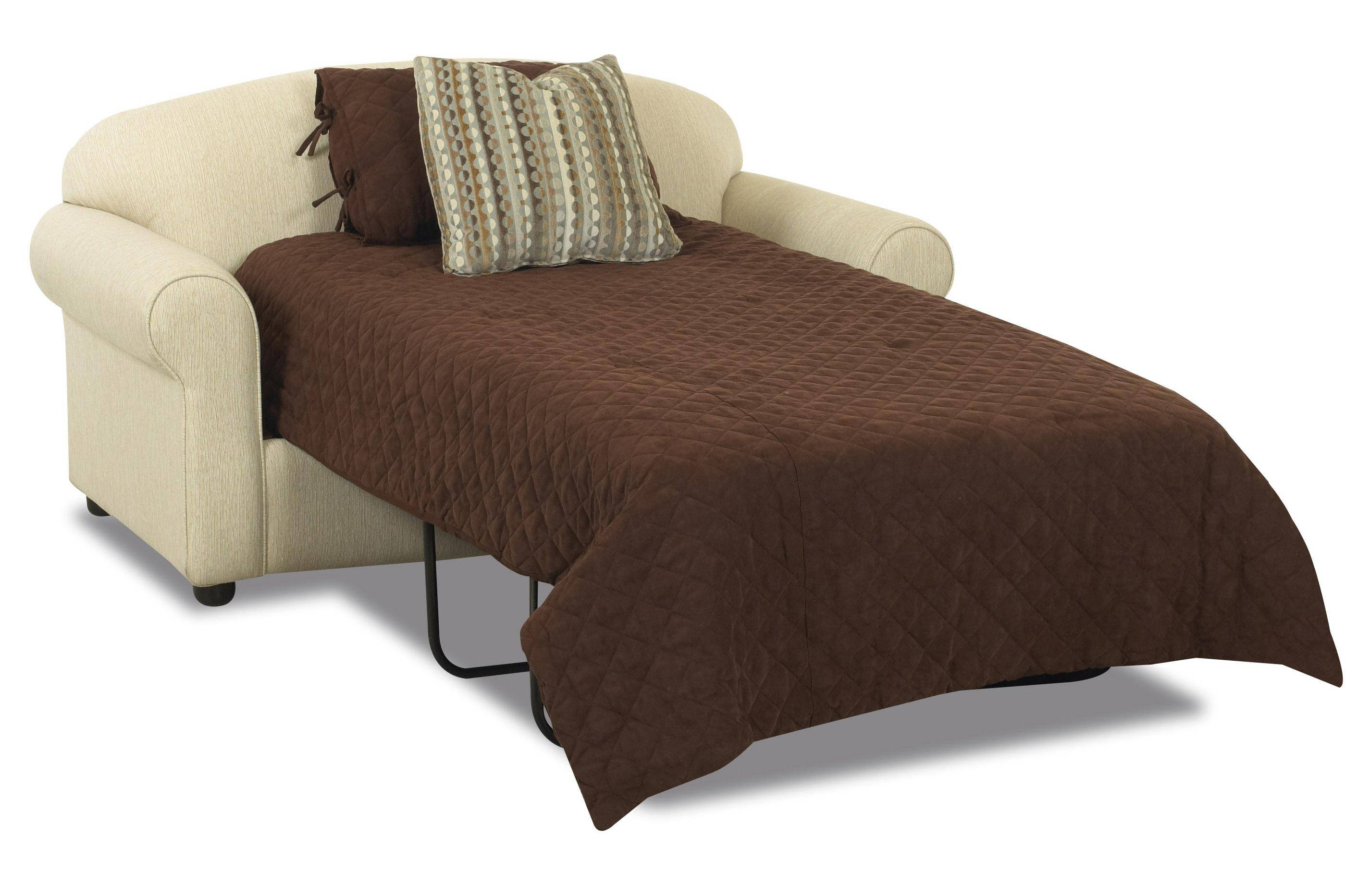 Klaussner Possibilities Innerspring Twin Sleeper Loveseat - Dunk inside Twin Sleeper Sofa Chairs (Image 12 of 30)