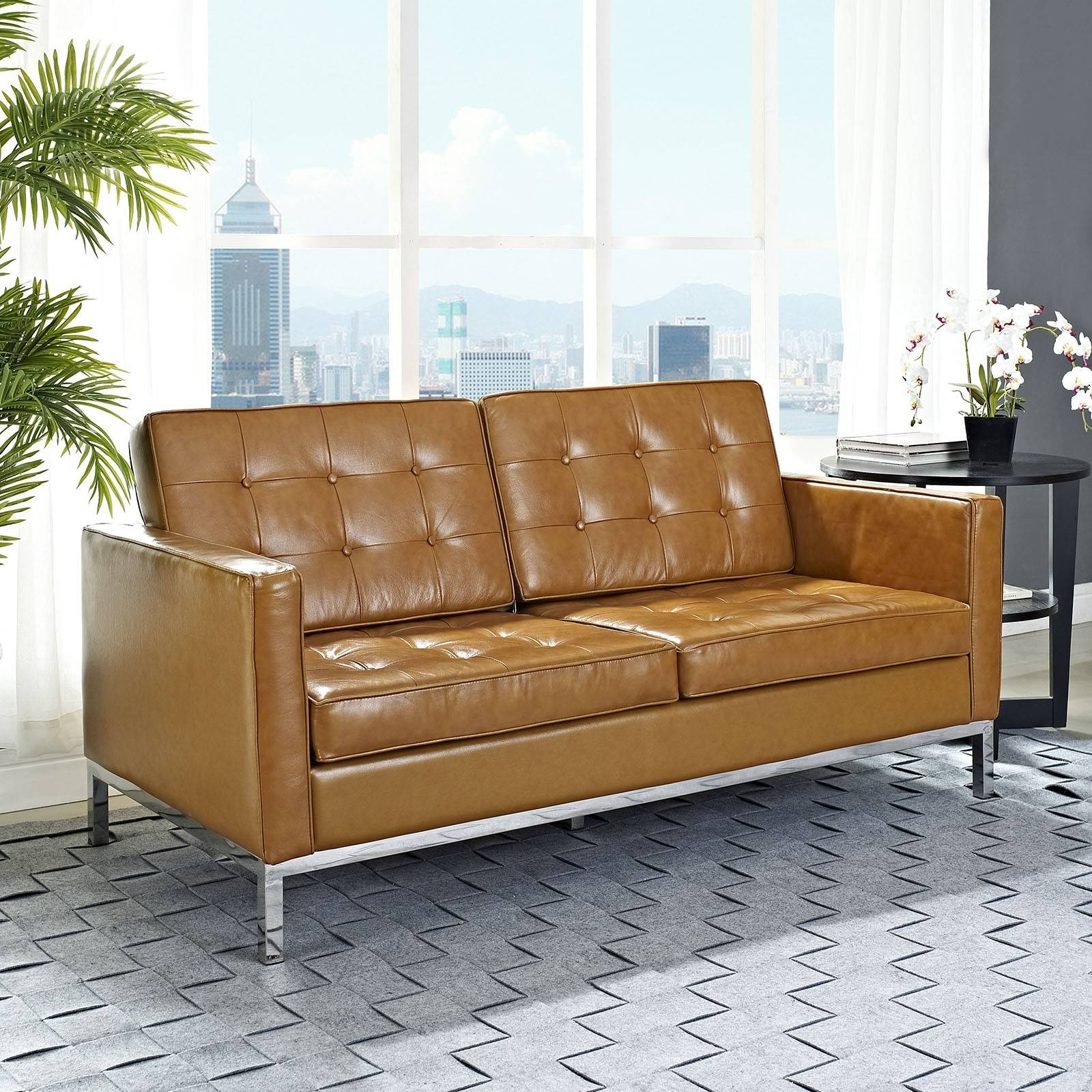 Knoll Leather Sofa - Leather Sectional Sofa inside Florence Knoll Leather Sofas (Image 17 of 25)