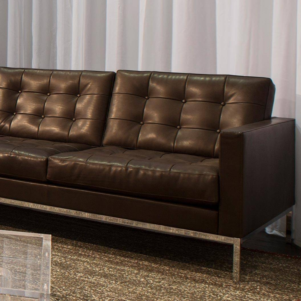 Knoll Leather Sofa - Leather Sectional Sofa pertaining to Florence Leather Sofas (Image 23 of 30)