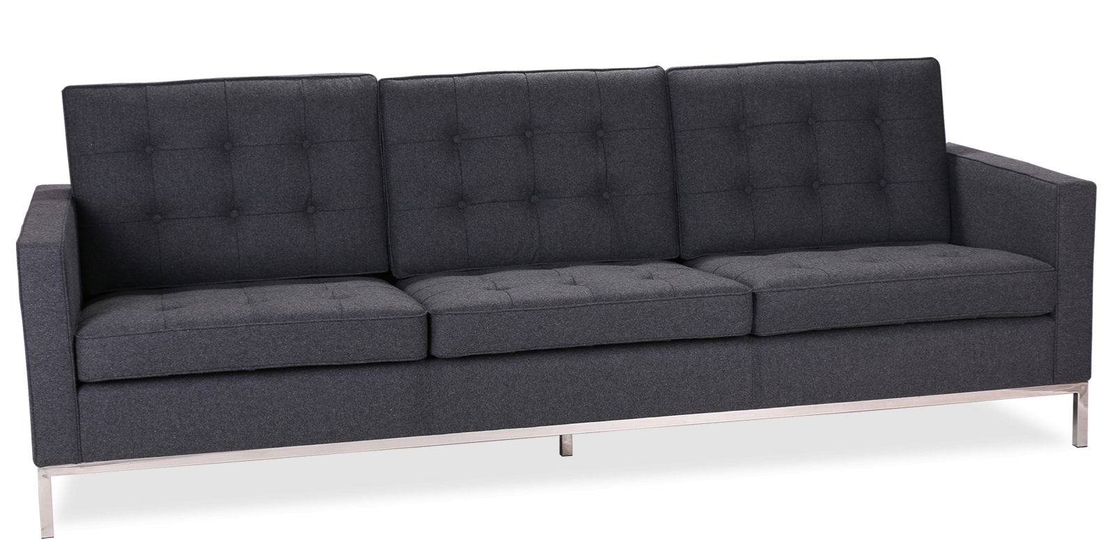 Knoll Style 3-Seater Sofa inside Florence Knoll Style Sofas (Image 22 of 25)