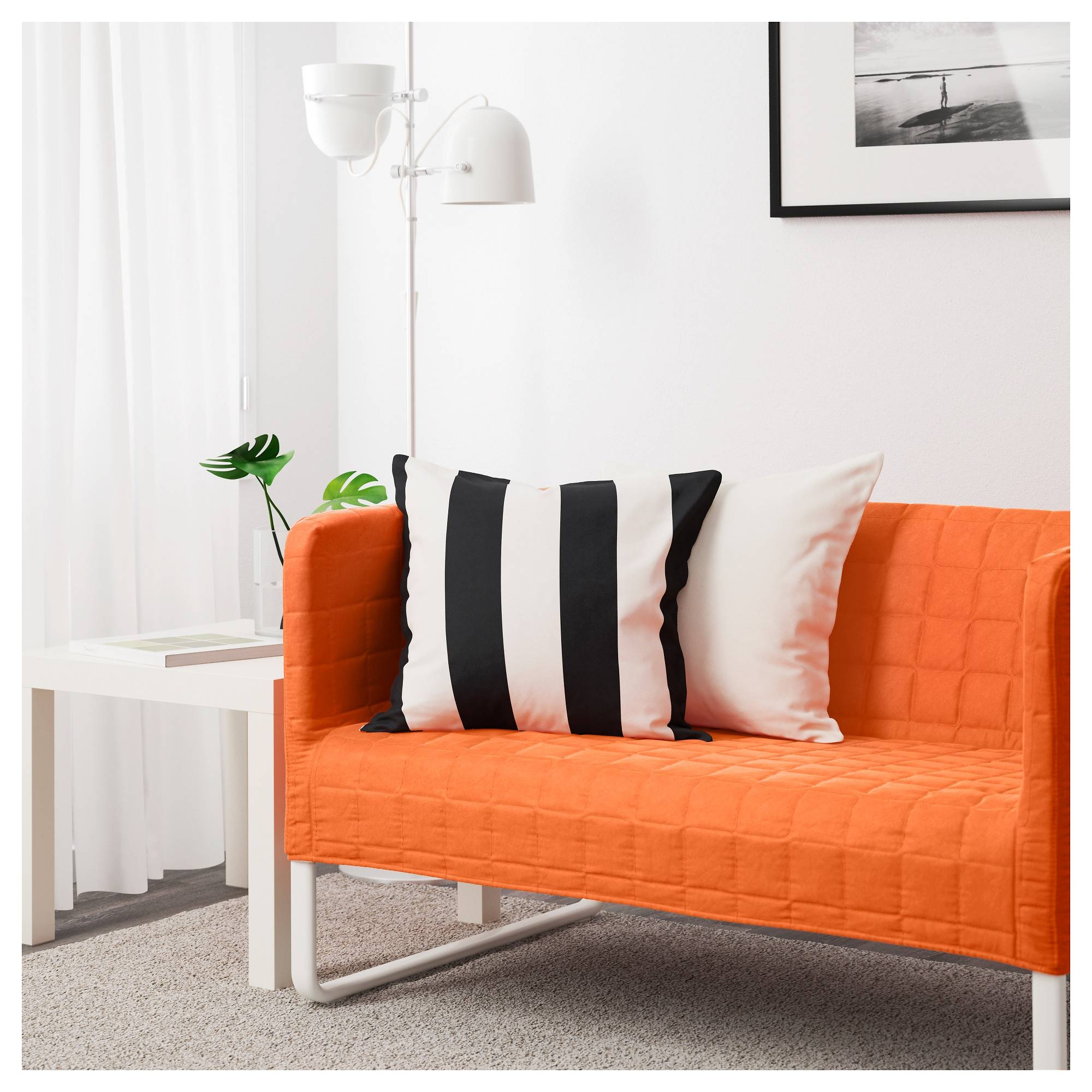 Knopparp 2-Seat Sofa Orange - Ikea with Orange Ikea Sofas (Image 21 of 30)