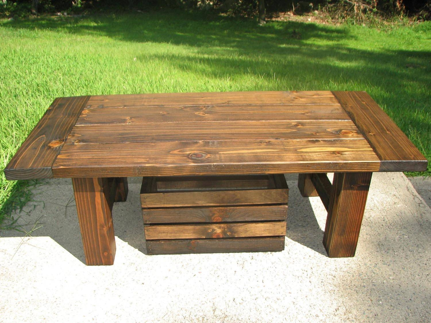 Popular round pine coffee tables
