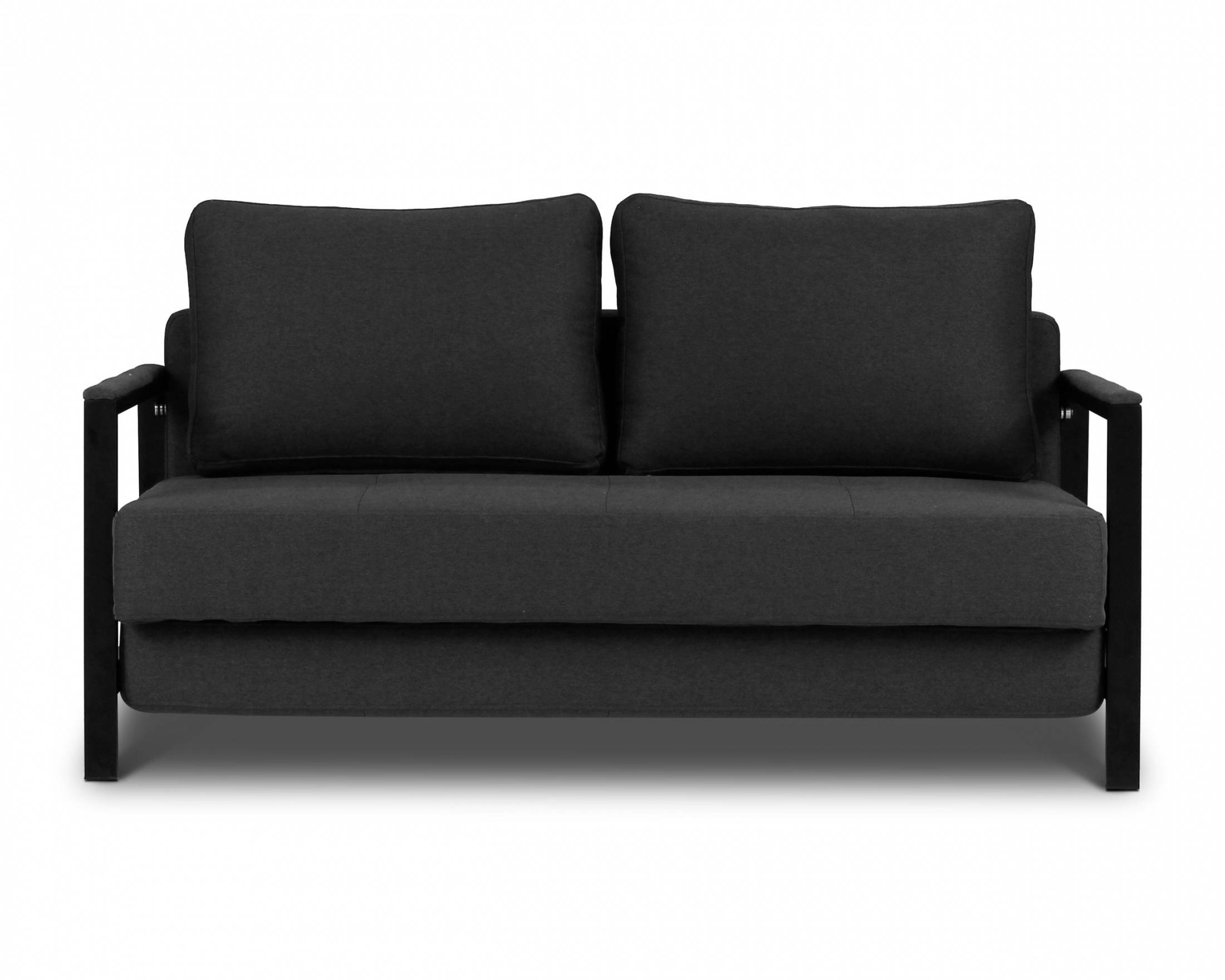 Kobe - 2 Seat Sofa Bed | Loungelovers for Black 2 Seater Sofas (Image 17 of 30)