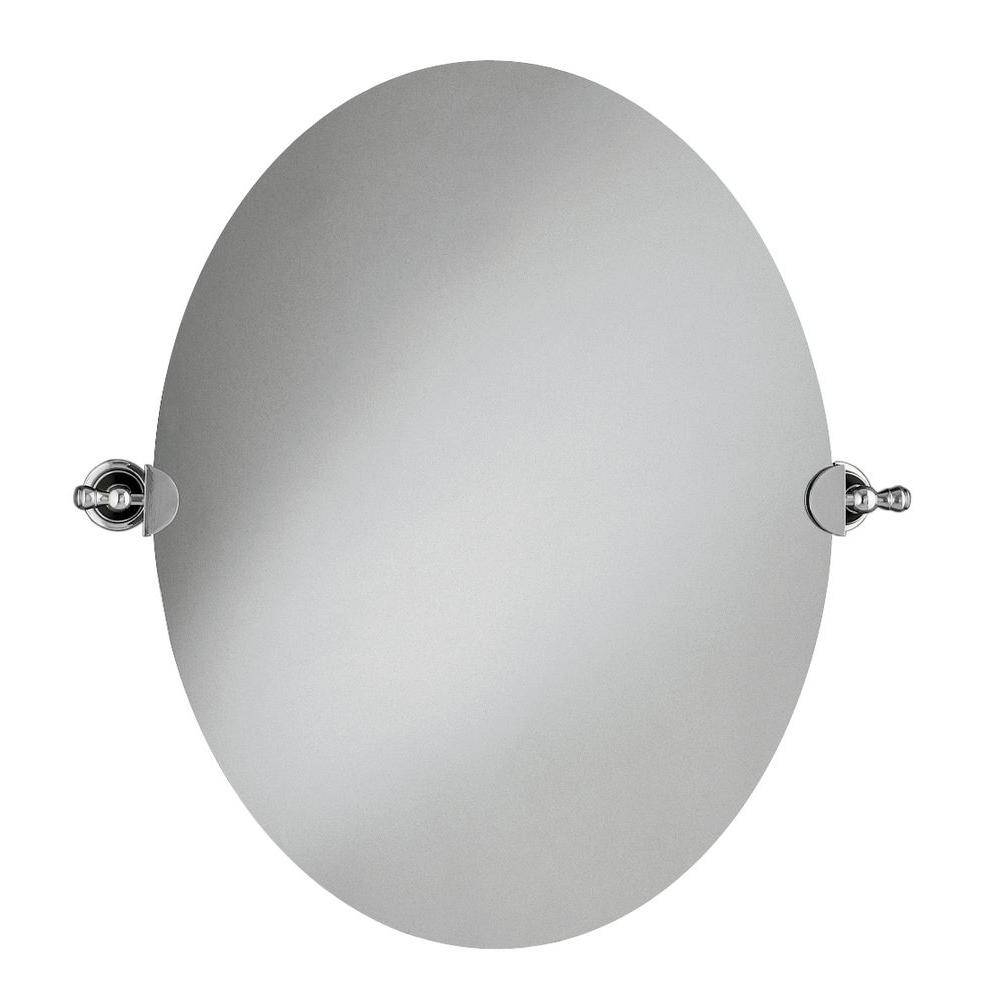 Kohler 28.5 In. L X 26 In. W Revival Oval Wall Mirror In Polished inside Oval Mirrors For Walls (Image 10 of 25)