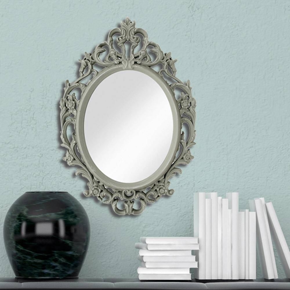 Kole Imports 15 In. X 10 In. Ornate Grey Oval Mirror-Of937 - The throughout Ornate Oval Mirrors (Image 11 of 25)