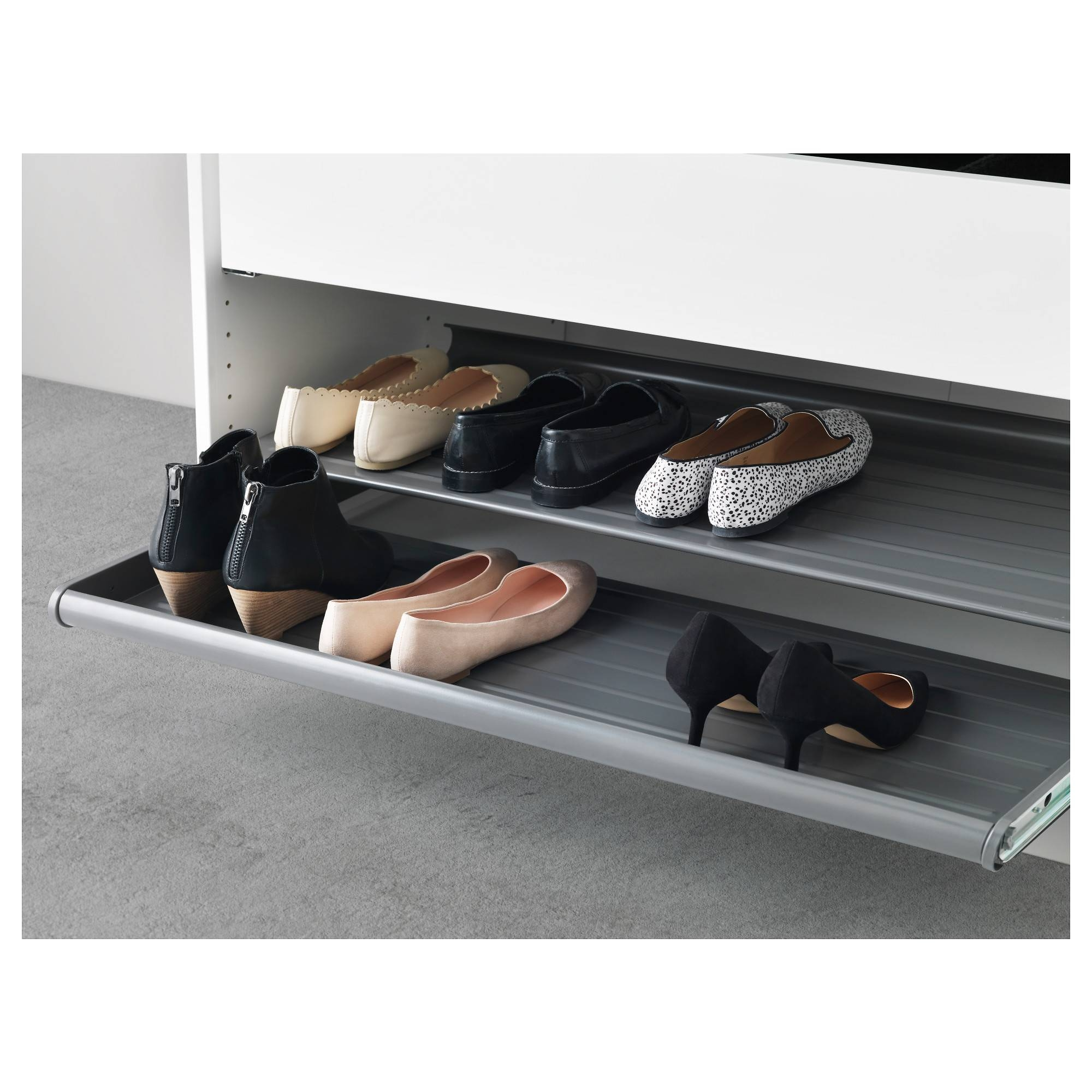 "Komplement Pull-Out Shoe Shelf - Dark Gray, 39 3/8X22 7/8 "" - Ikea pertaining to Wardrobe Drawers And Shelves Ikea (Image 19 of 30)"