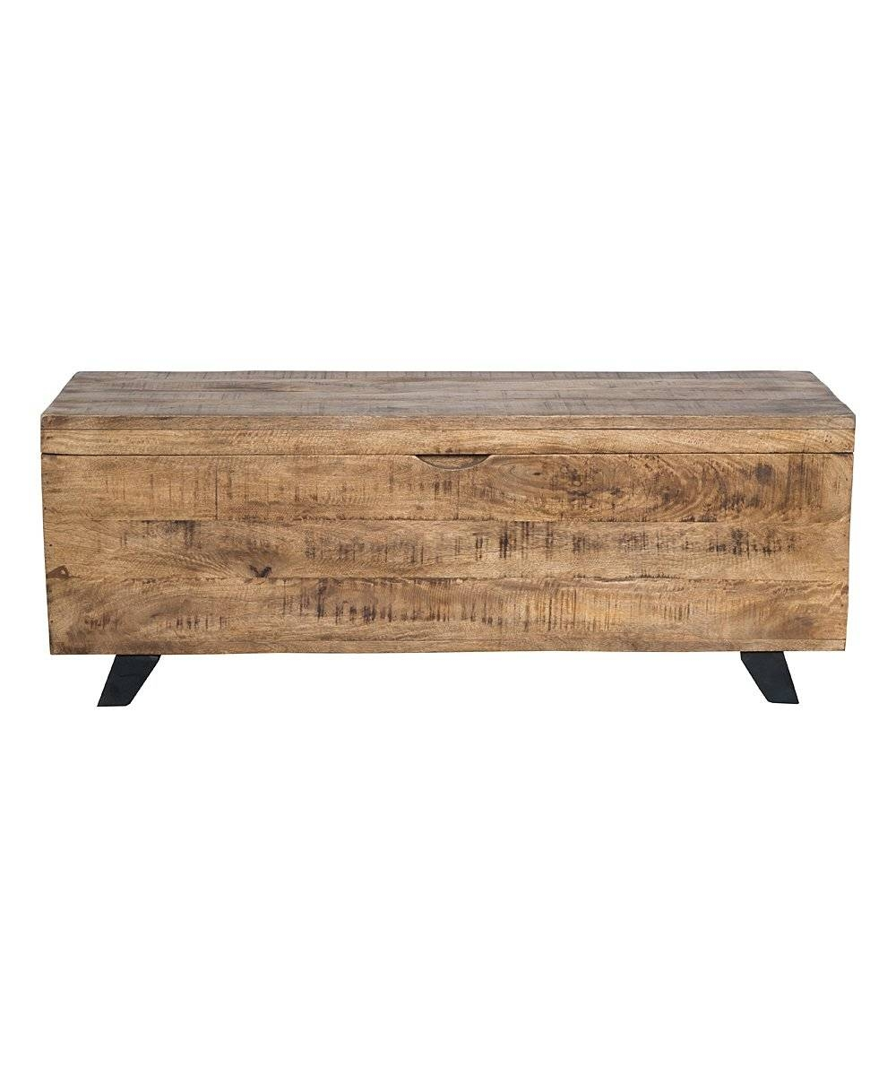 Kosas Home Raw Mango Wood Axis Storage Chest | Zulily inside Mango Wood Coffee Tables (Image 12 of 30)