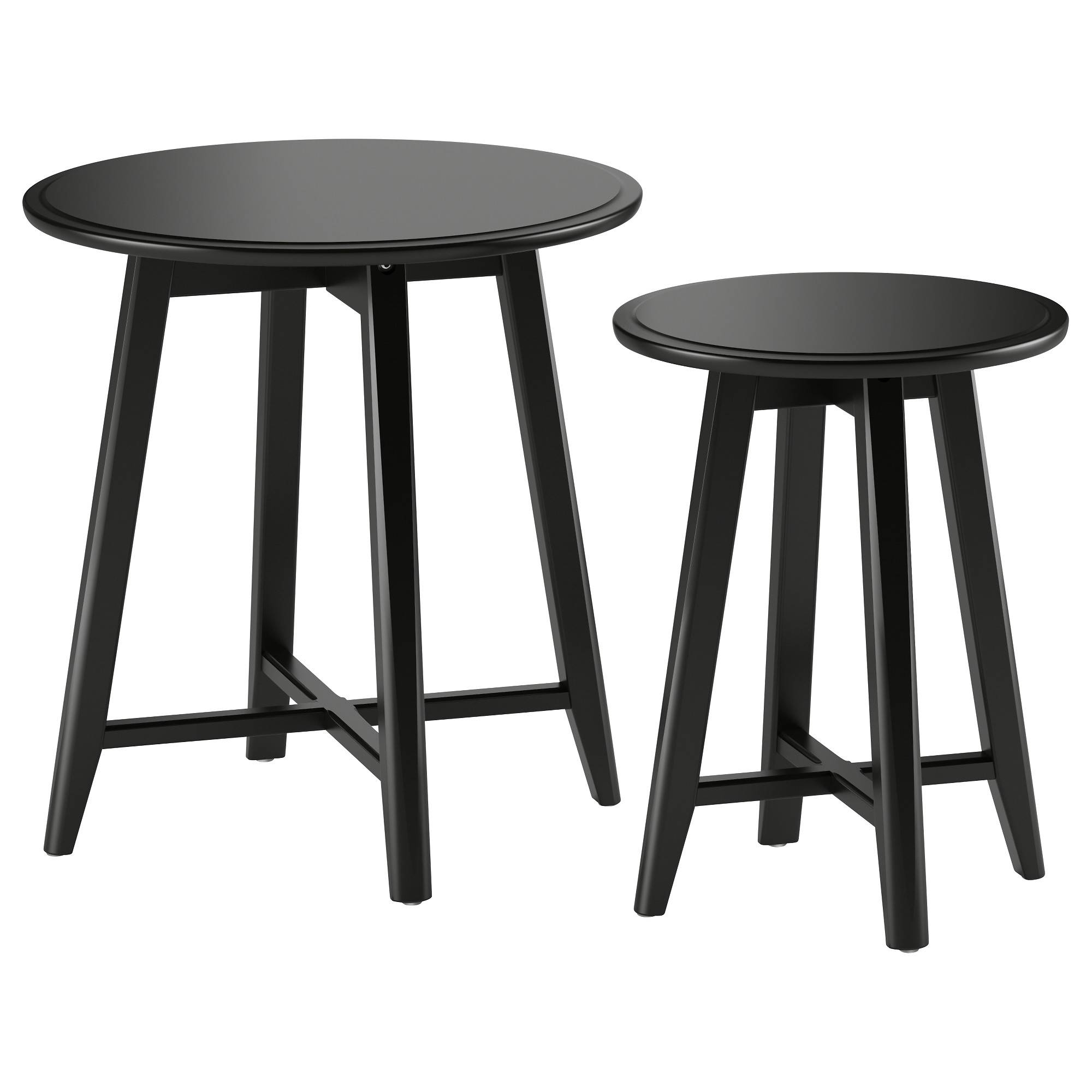 Kragsta Nest Of Tables, Set Of 2 Black - Ikea intended for Nest Coffee Tables (Image 16 of 30)