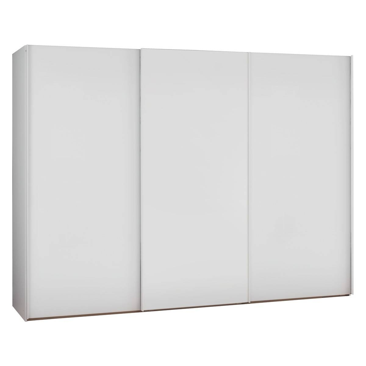 Kripton Matt White 3 Door Sliding Wardrobe W300 X H223Cm | Buy Now pertaining to 3 Door White Wardrobes (Image 10 of 30)