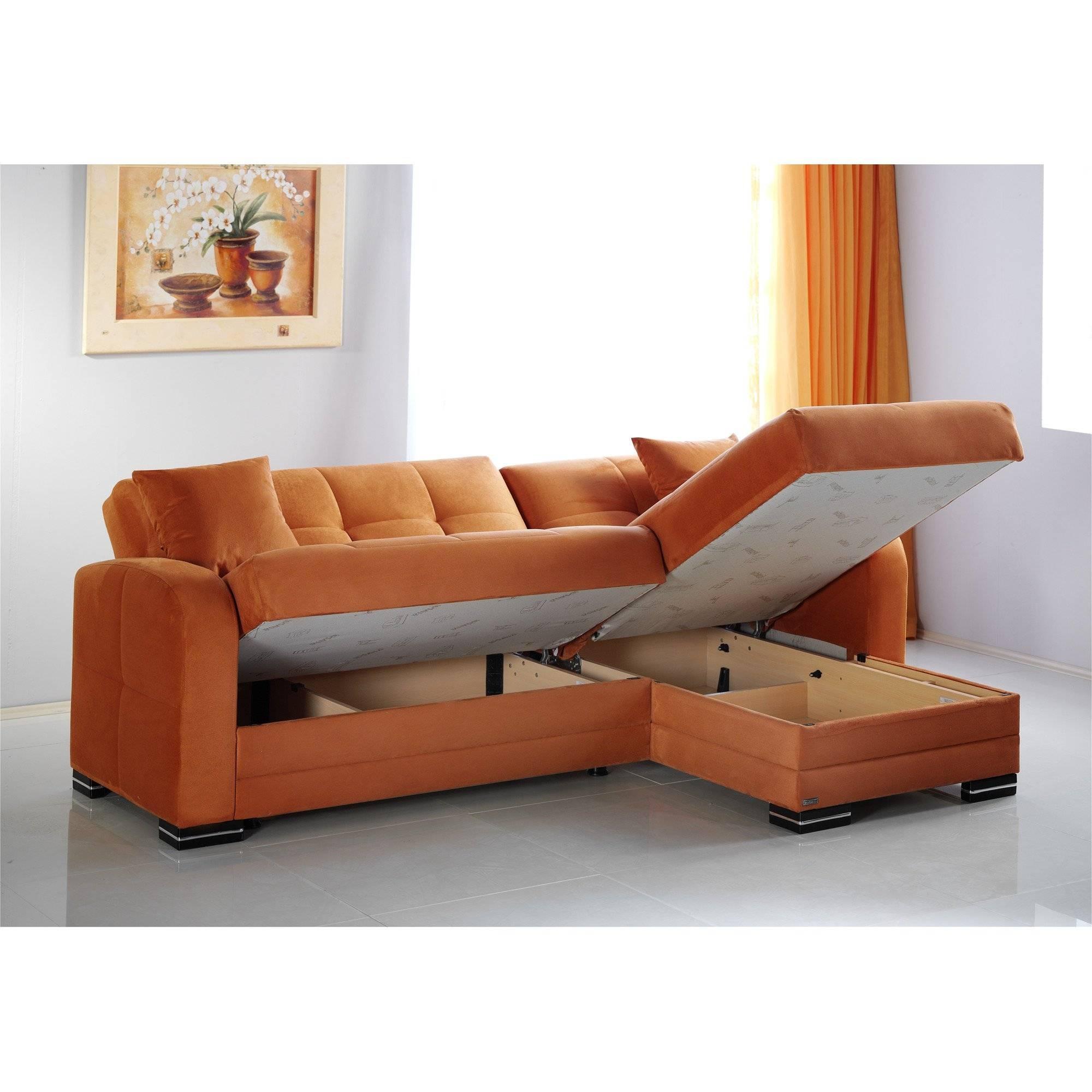 Kubo Rainbow Orange Sectional Sofasunset inside Sectional Sofa Beds (Image 7 of 30)