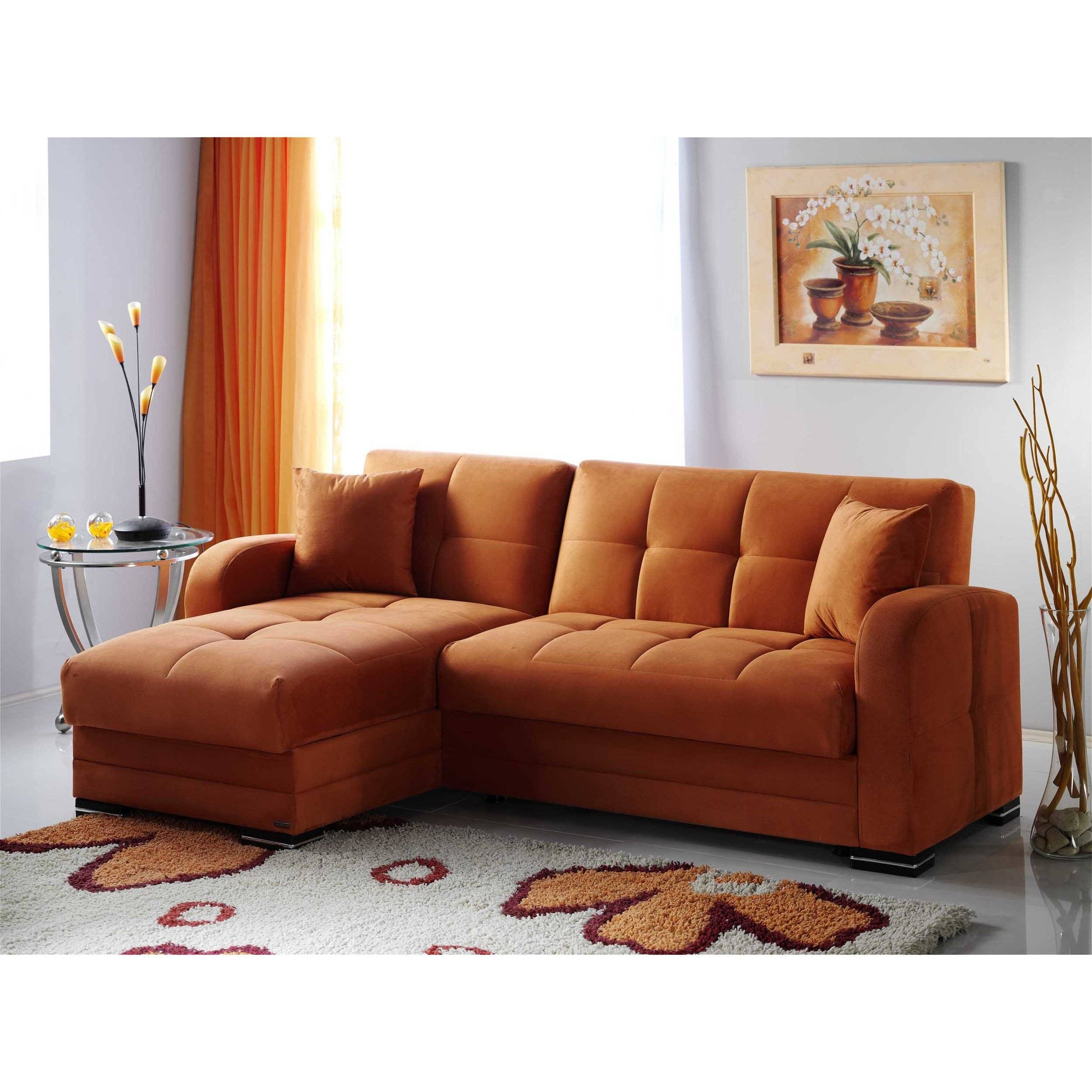 Kubo Rainbow Orange Sectional Sofasunset Throughout Orange Sectional Sofa (View 22 of 30)