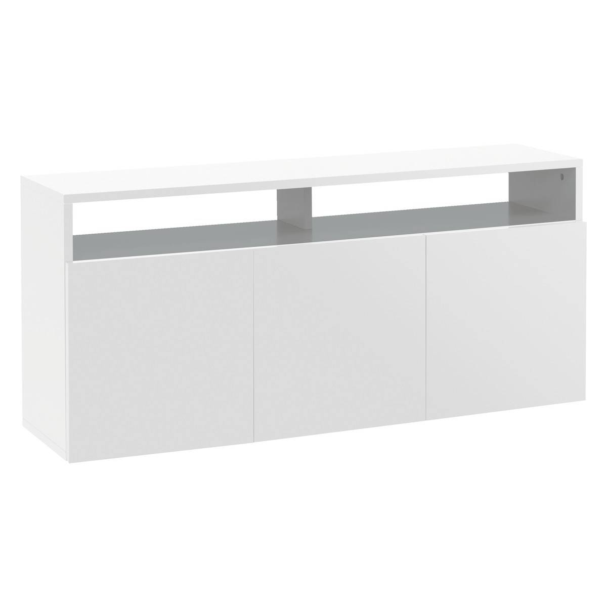 Kubrik White High Gloss Large Sideboard | Buy Now At Habitat Uk pertaining to White Wood Sideboards (Image 10 of 30)